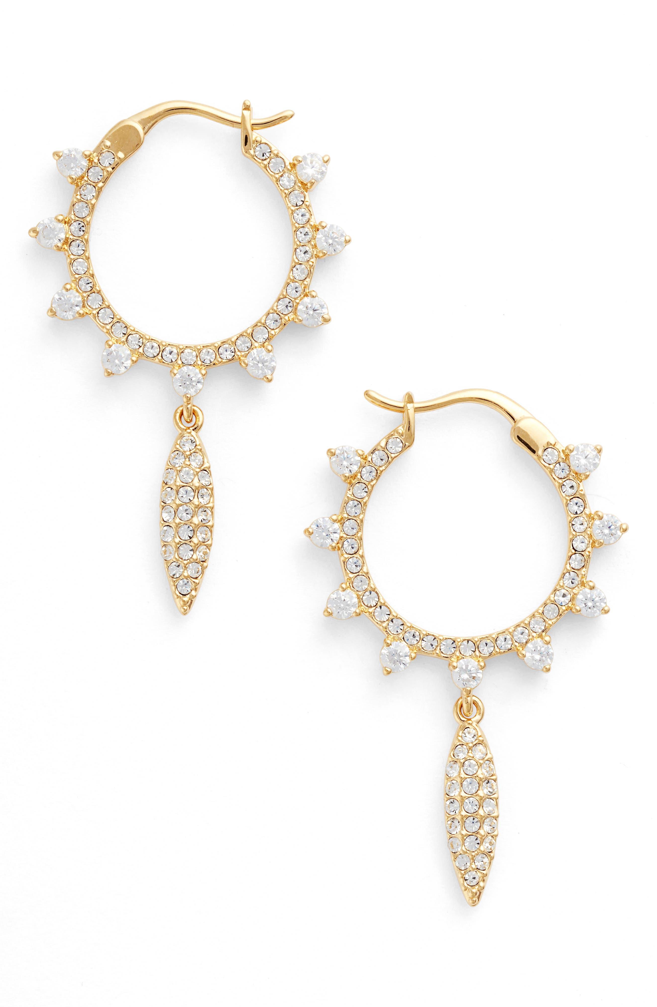 Alternate Image 1 Selected - Nadri Cardamom Charm Hoop Earrings