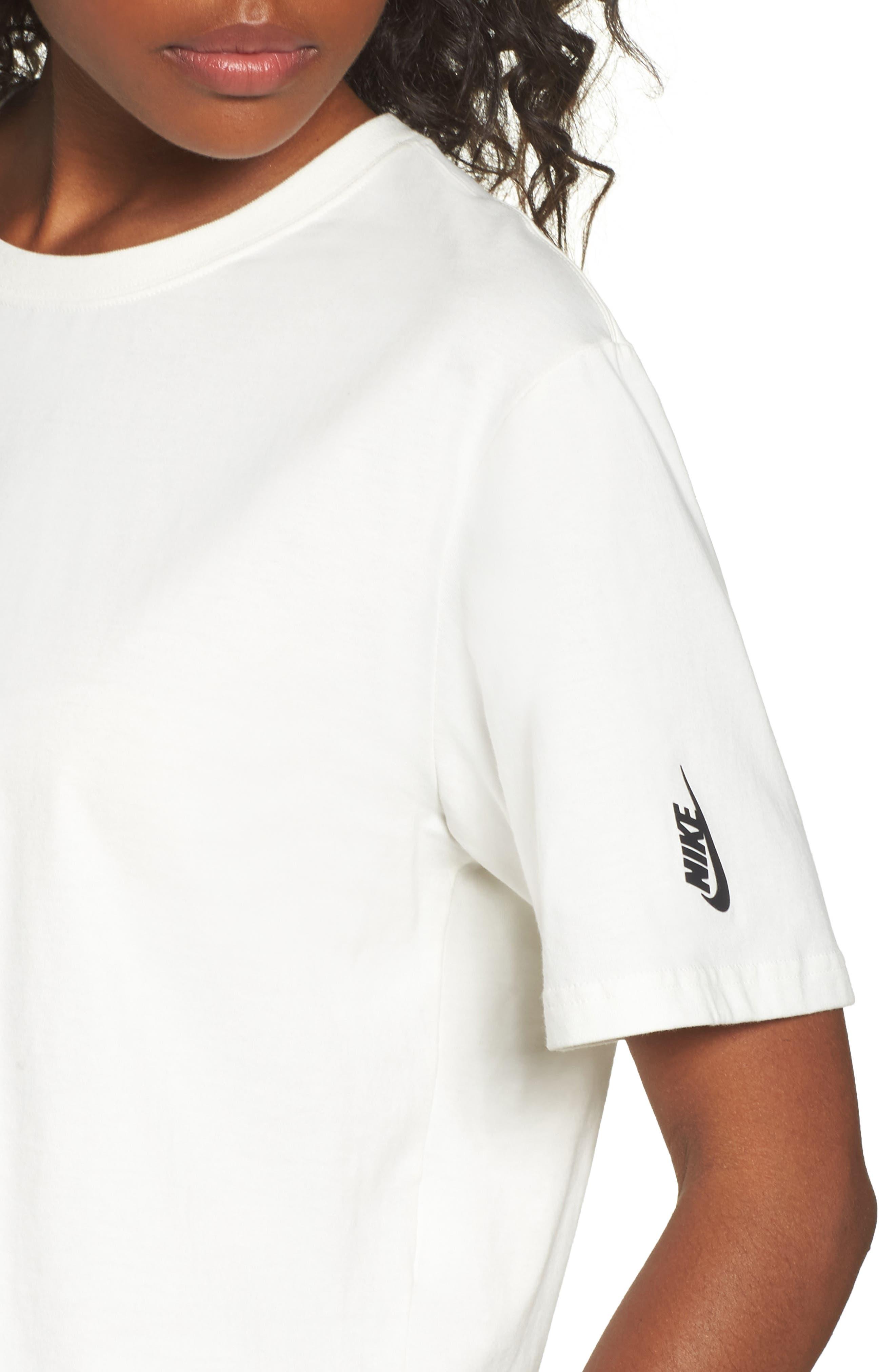 NikeLab Essentials Tee,                             Alternate thumbnail 4, color,                             Sail/ Black