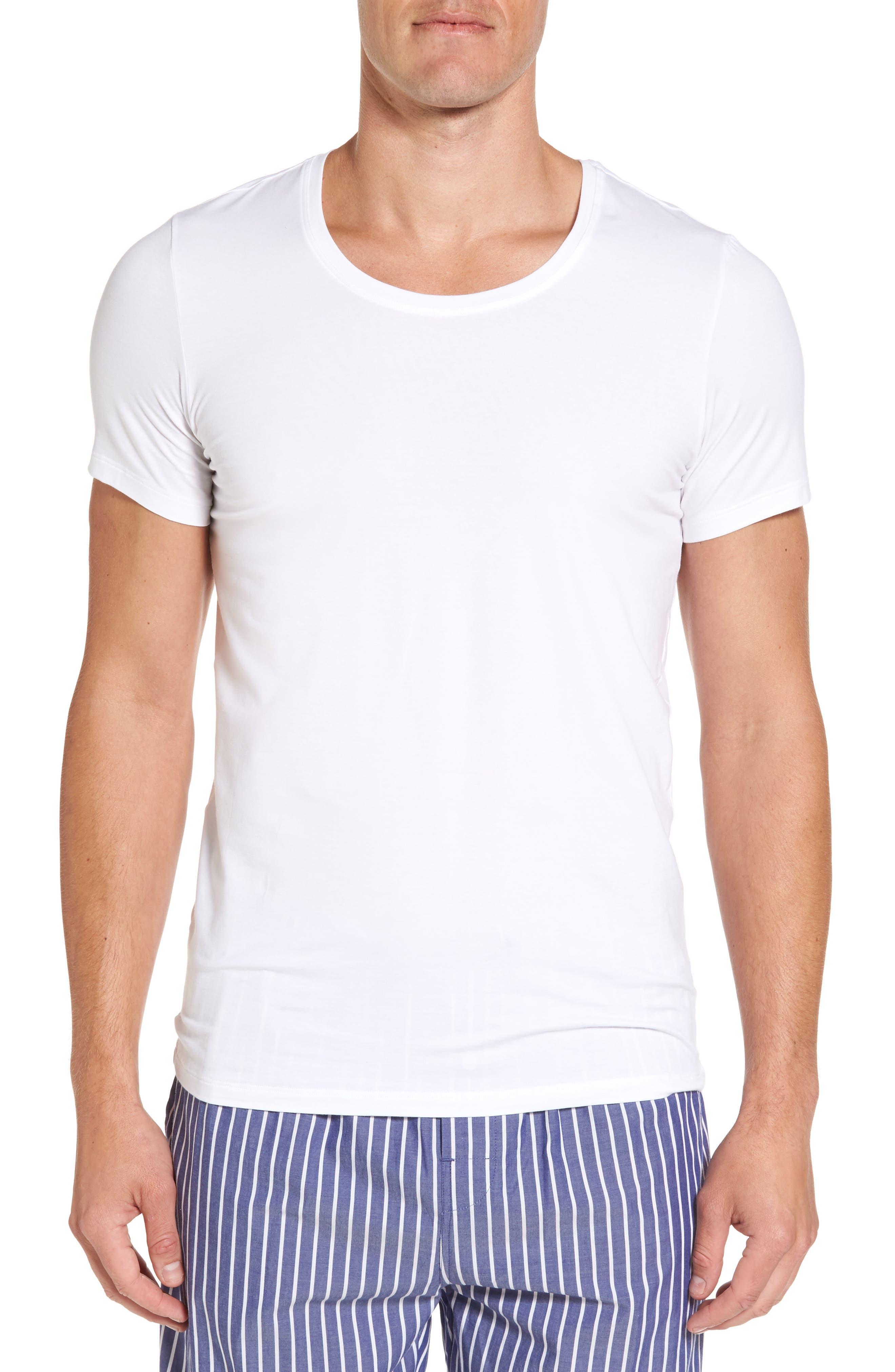 Main Image - Hanro Cotton Superior Crewneck T-Shirt