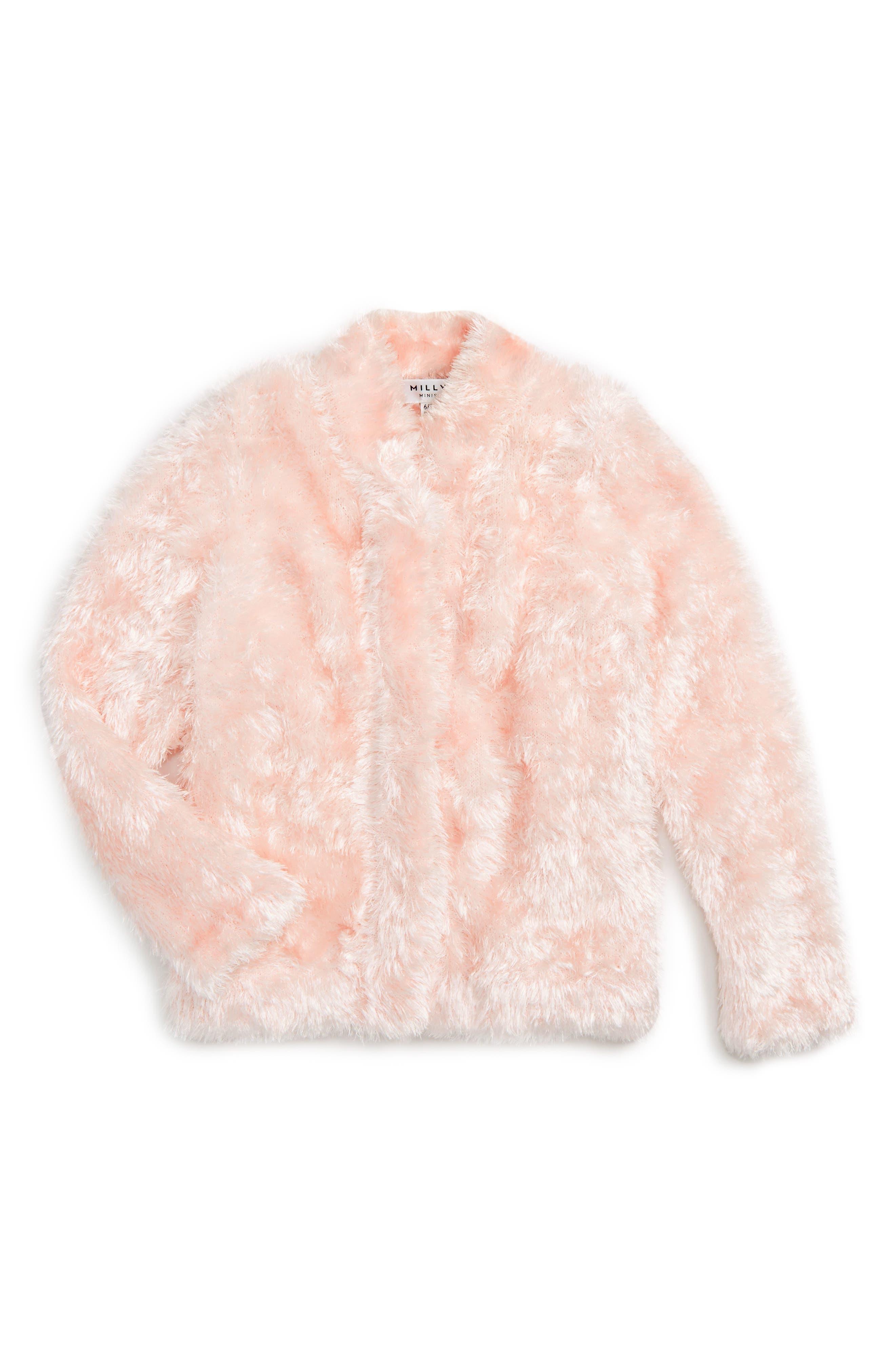 Faux Fur Jacket,                         Main,                         color, Blush