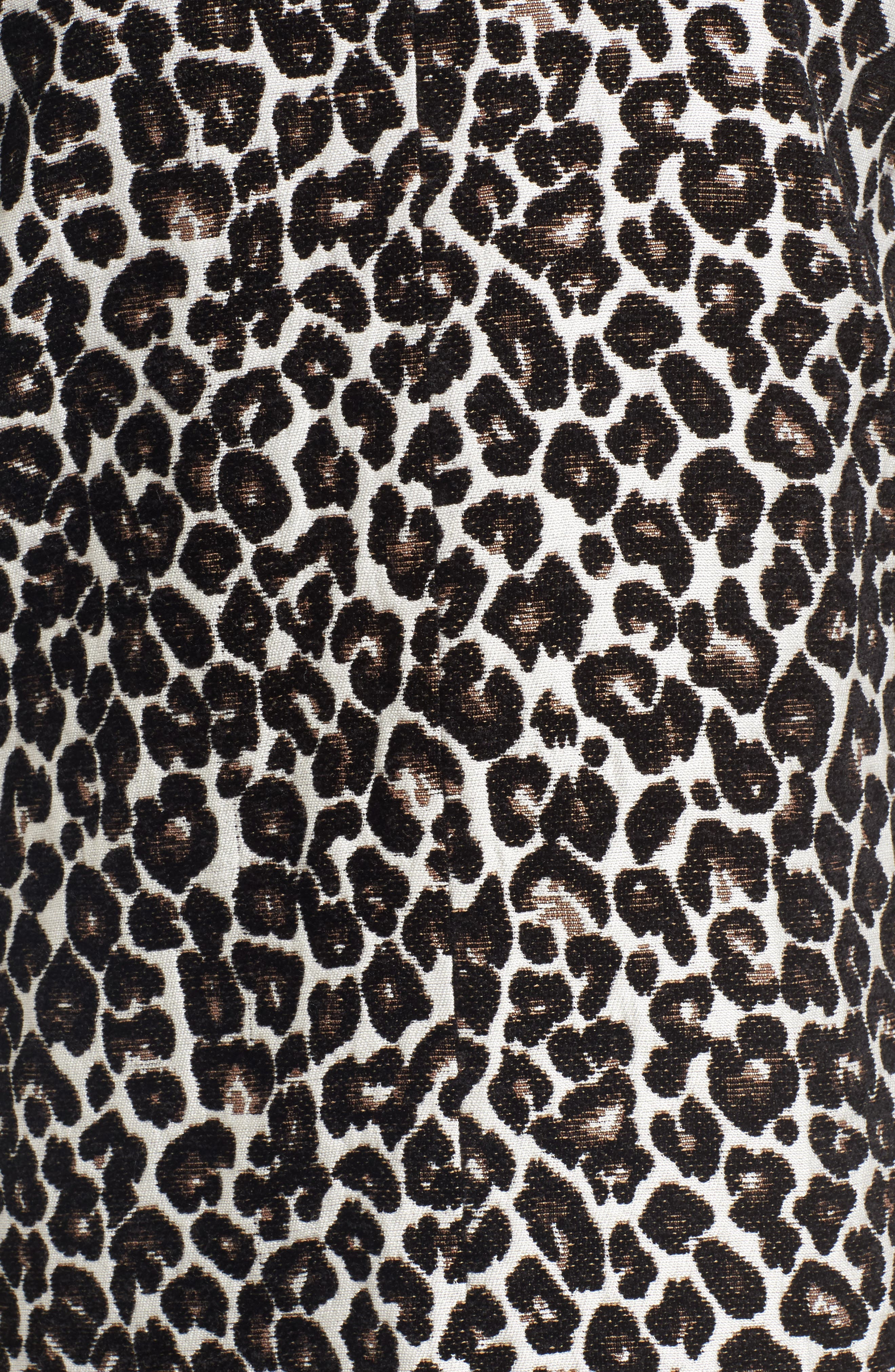 Alternate Image 5  - cupcakes and cashmere Adeltia Leopard Print Jacket