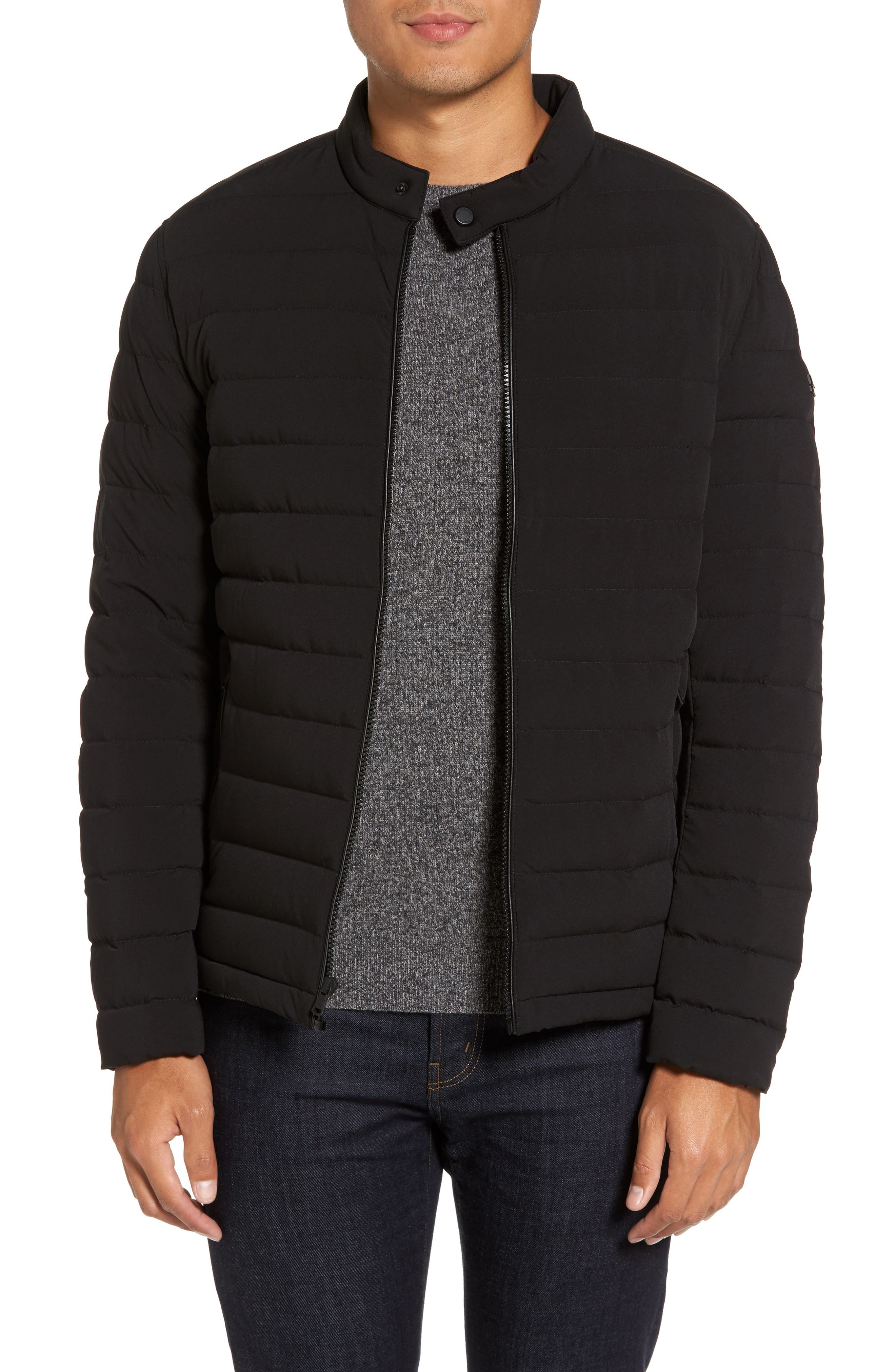 Packable Stretch Down Jacket,                             Main thumbnail 1, color,                             Black