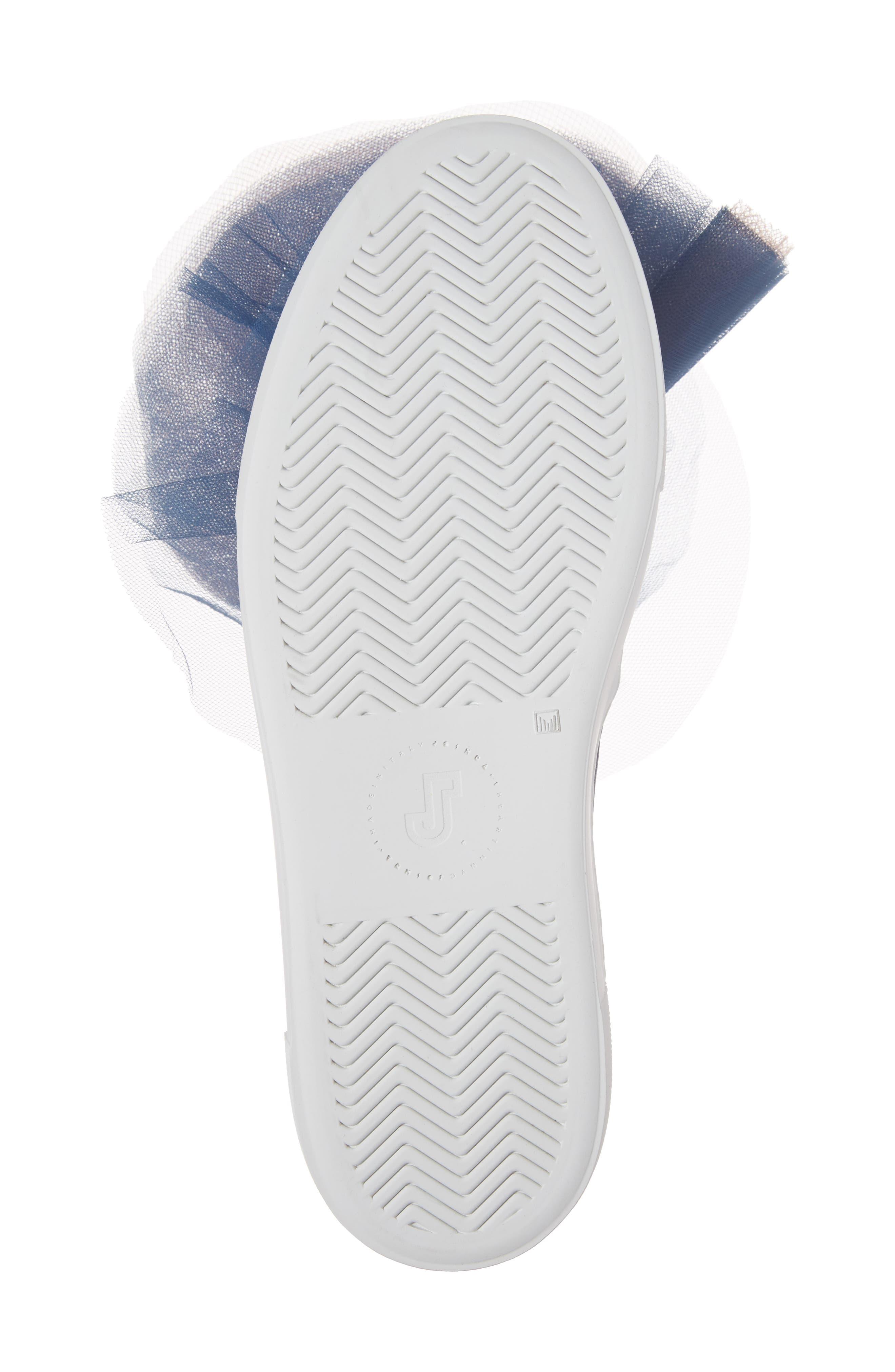Tulle Slip-On Sneaker,                             Alternate thumbnail 6, color,                             Navy Pink Combo