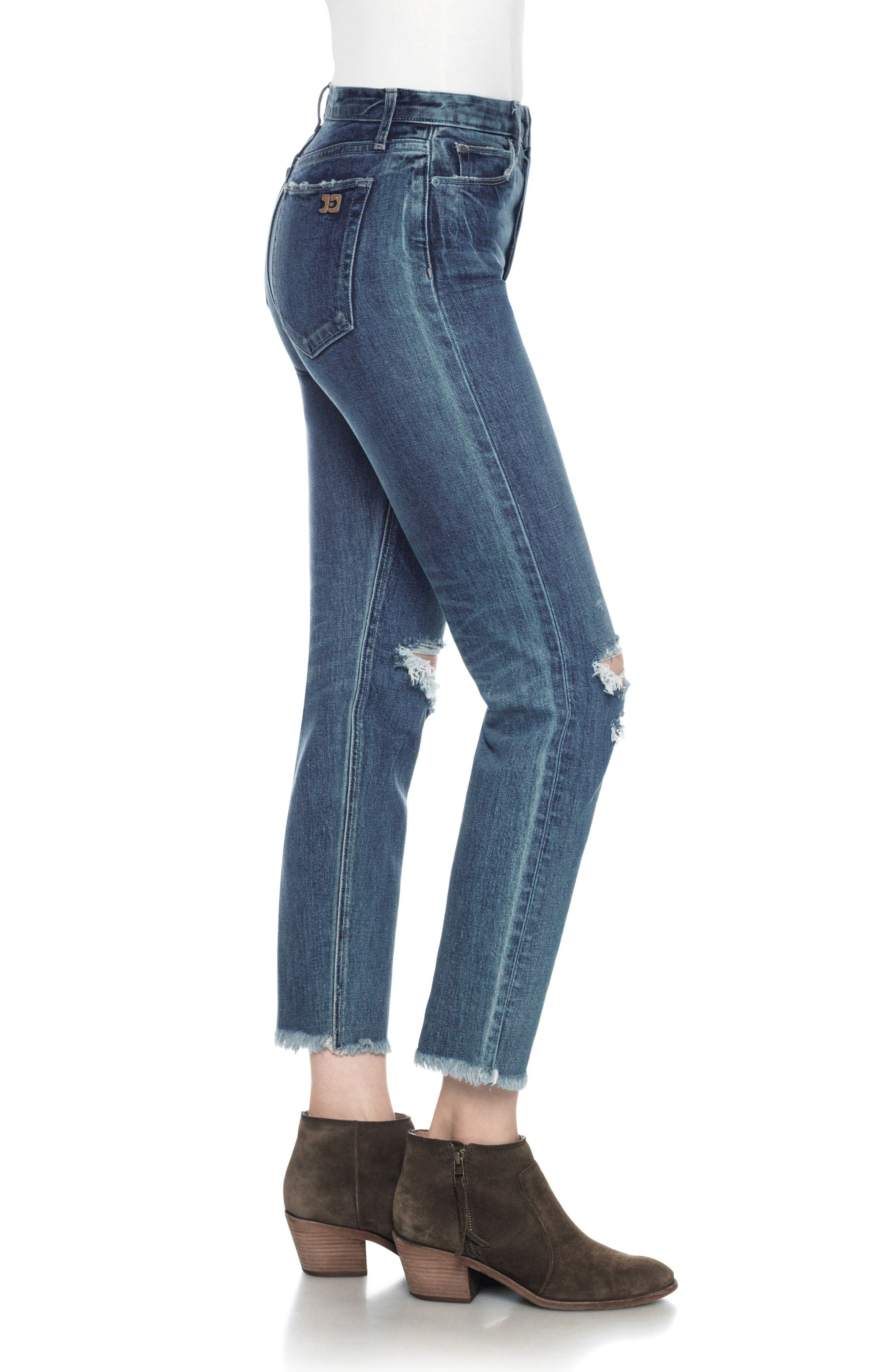 Classics Debbie High Waist Ankle Straight Leg Jeans,                             Alternate thumbnail 3, color,                             Rashida
