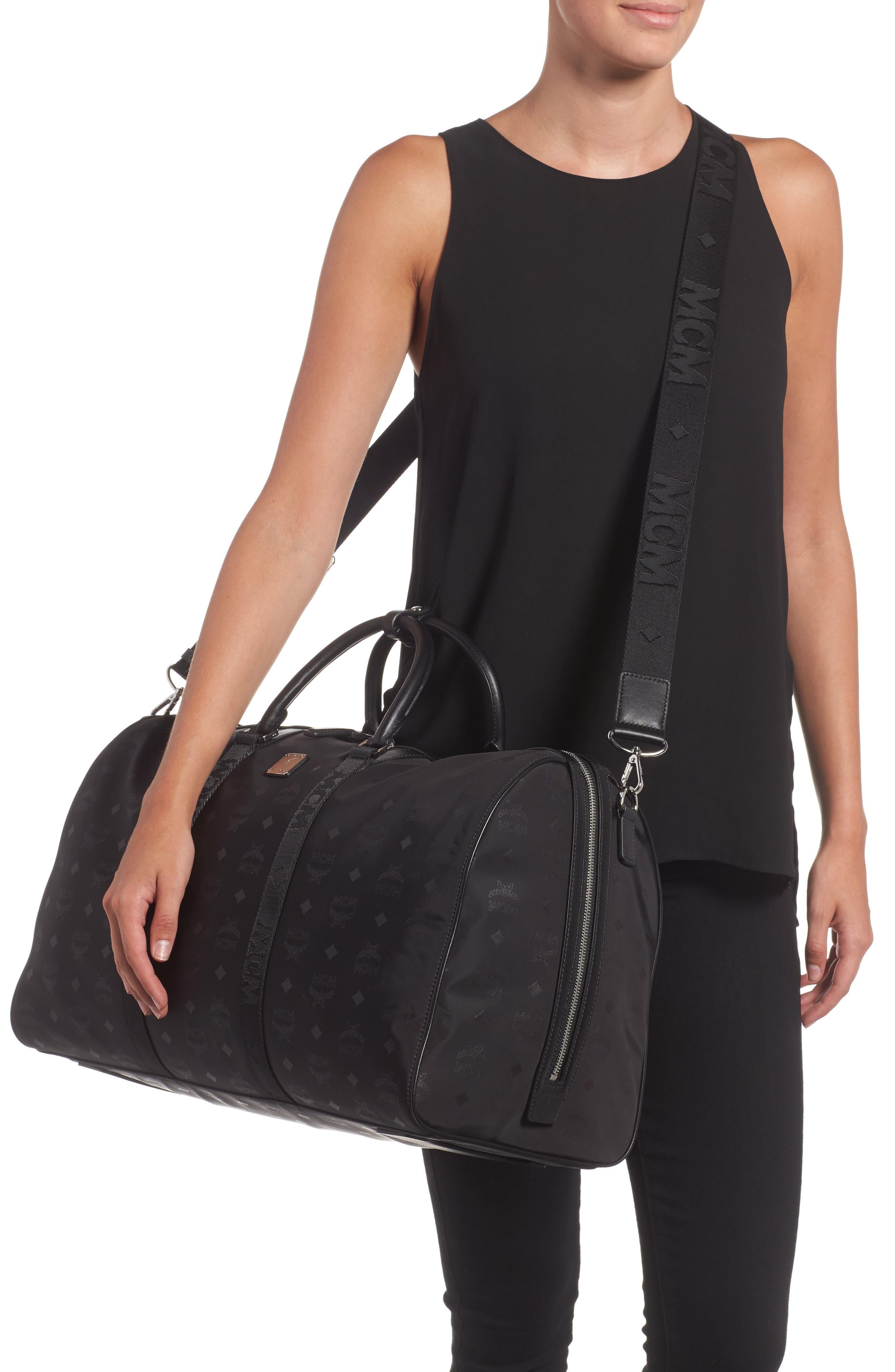 Alternate Image 2  - MCM Logo Nylon Duffel Bag