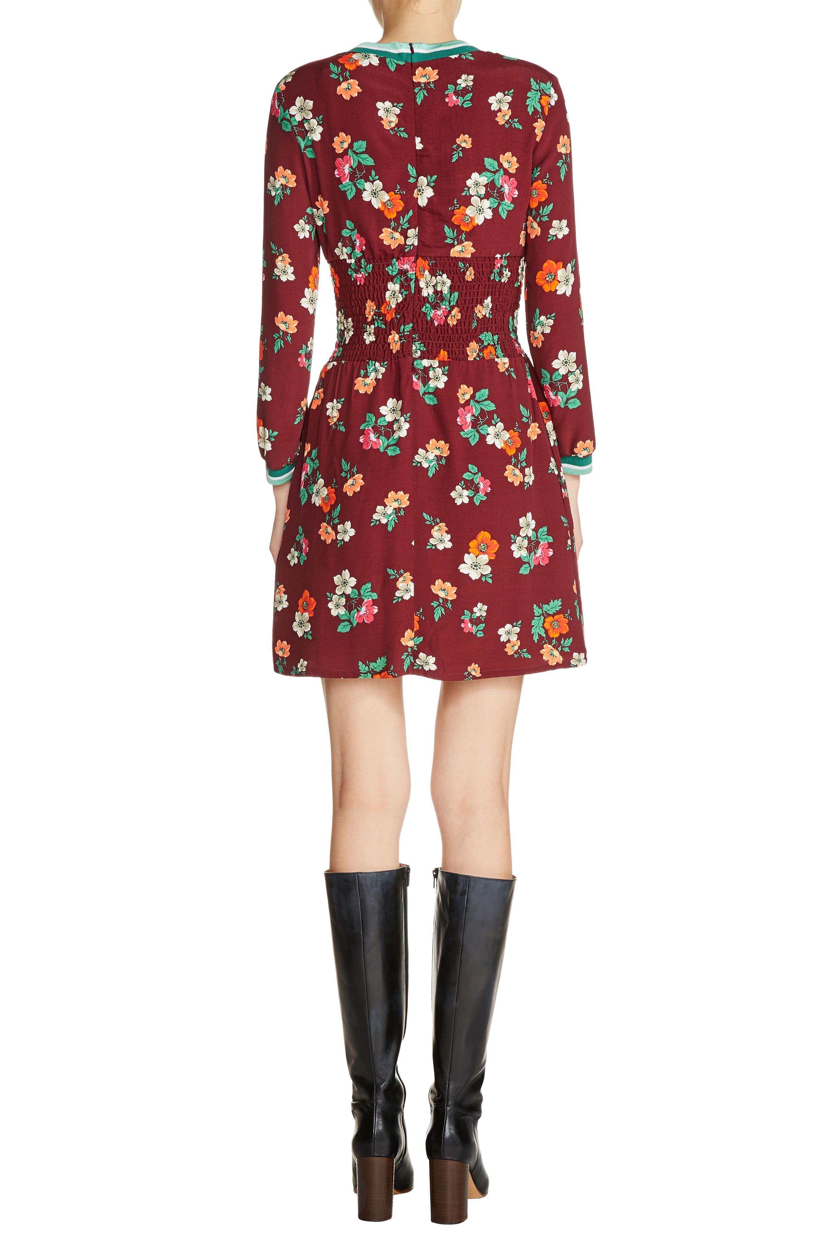 Alternate Image 2  - maje Floral Print A-Line Dress