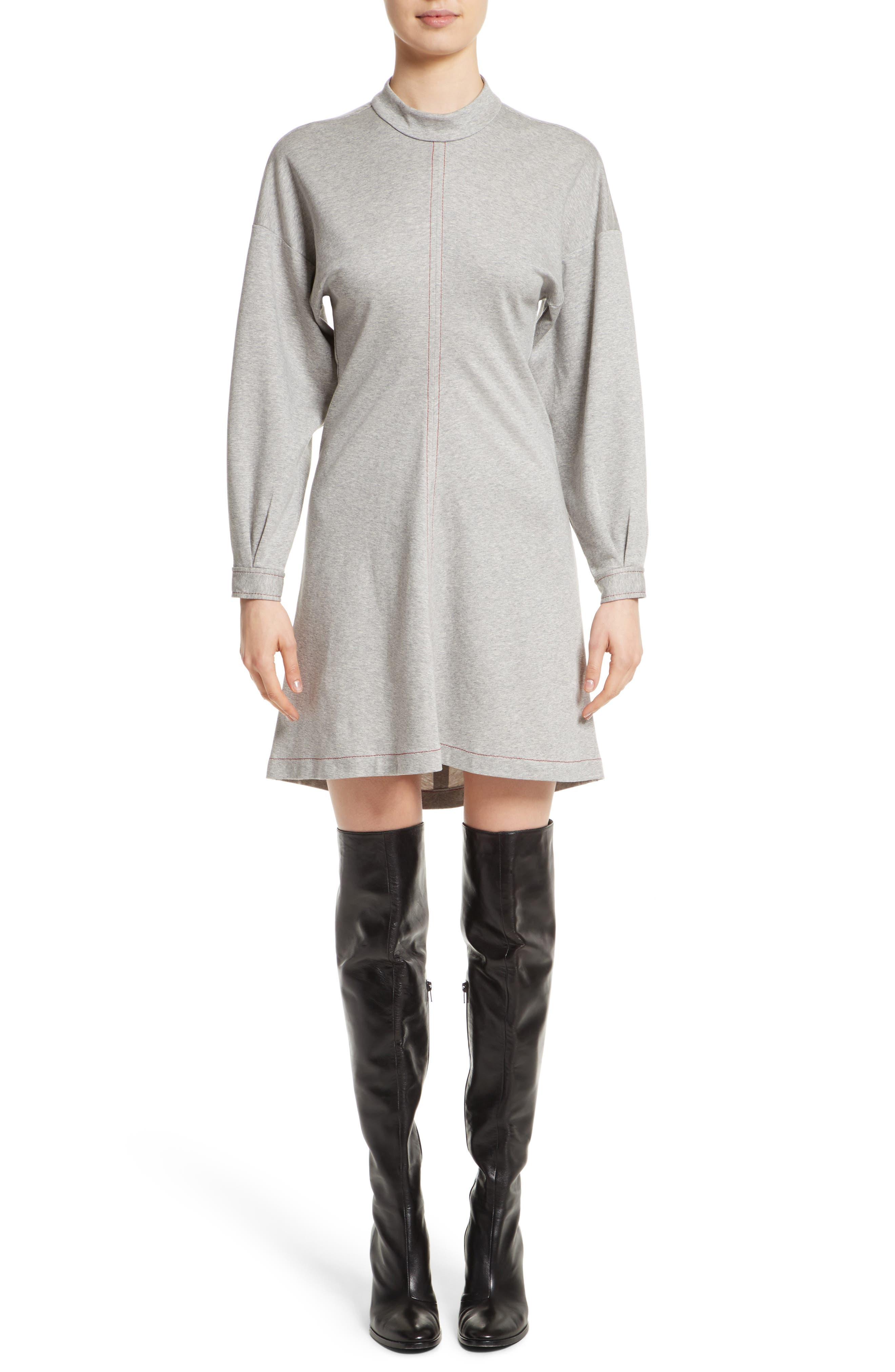 Colovos Mock Neck Sweatshirt Dress