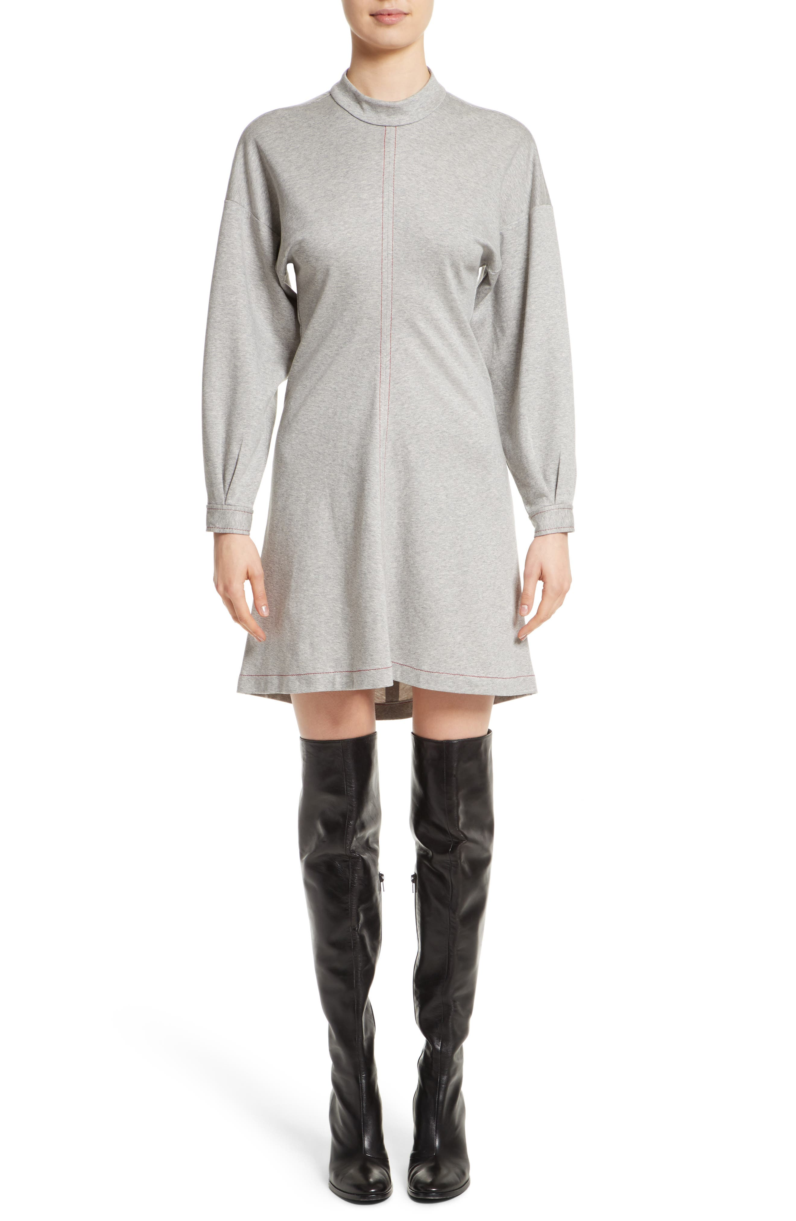 Colovos Mock Neck Sweatshirt Dress