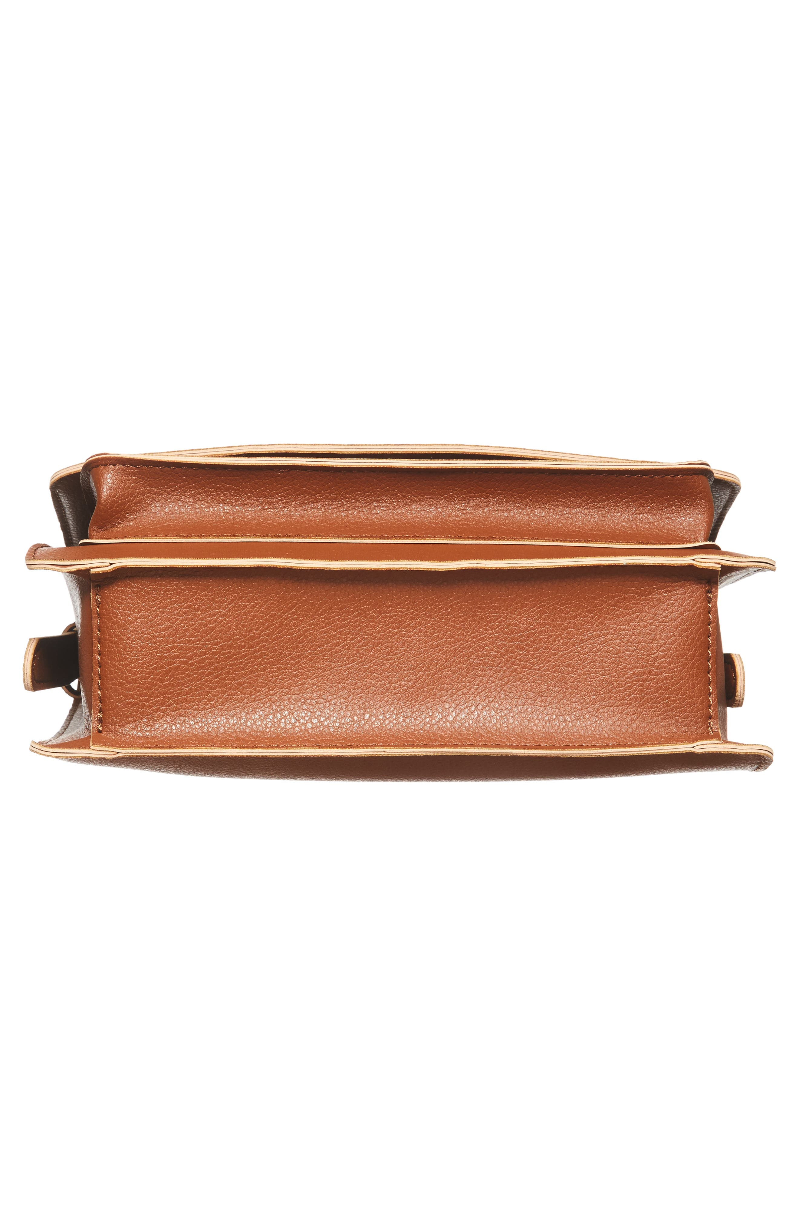 'Michelle' Faux Leather Crossbody Bag,                             Alternate thumbnail 6, color,                             New Cognac
