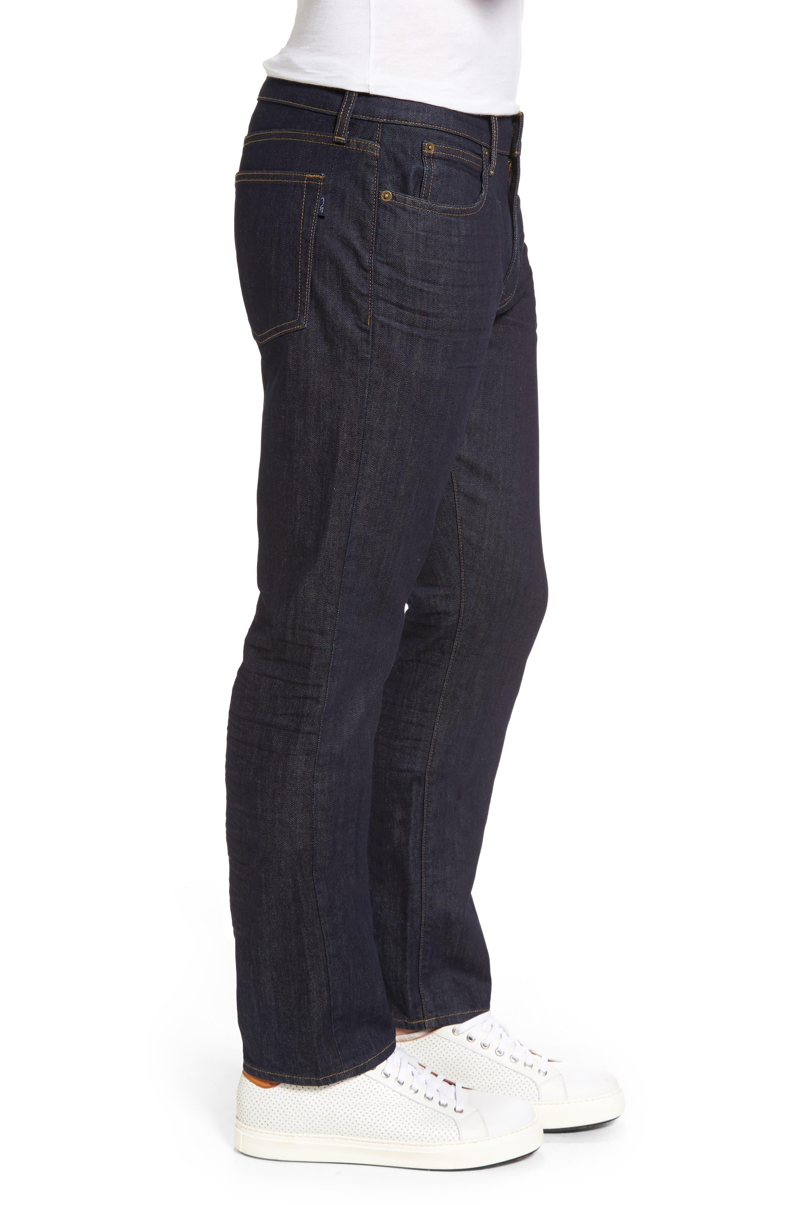 Straight Leg Jeans,                             Alternate thumbnail 3, color,                             Baltic Blue