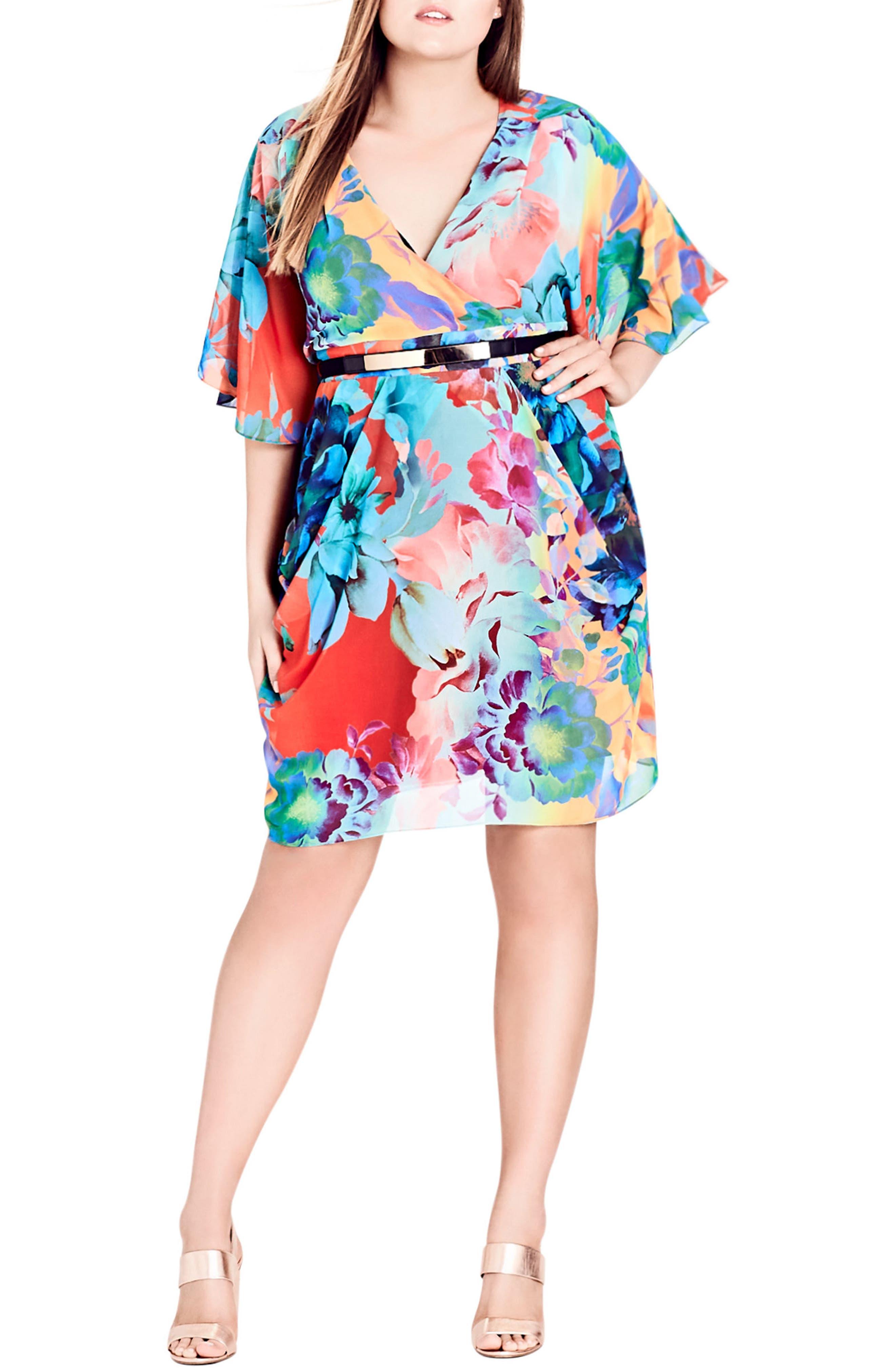 City Chic Summer Wrap Dress (Plus Size)