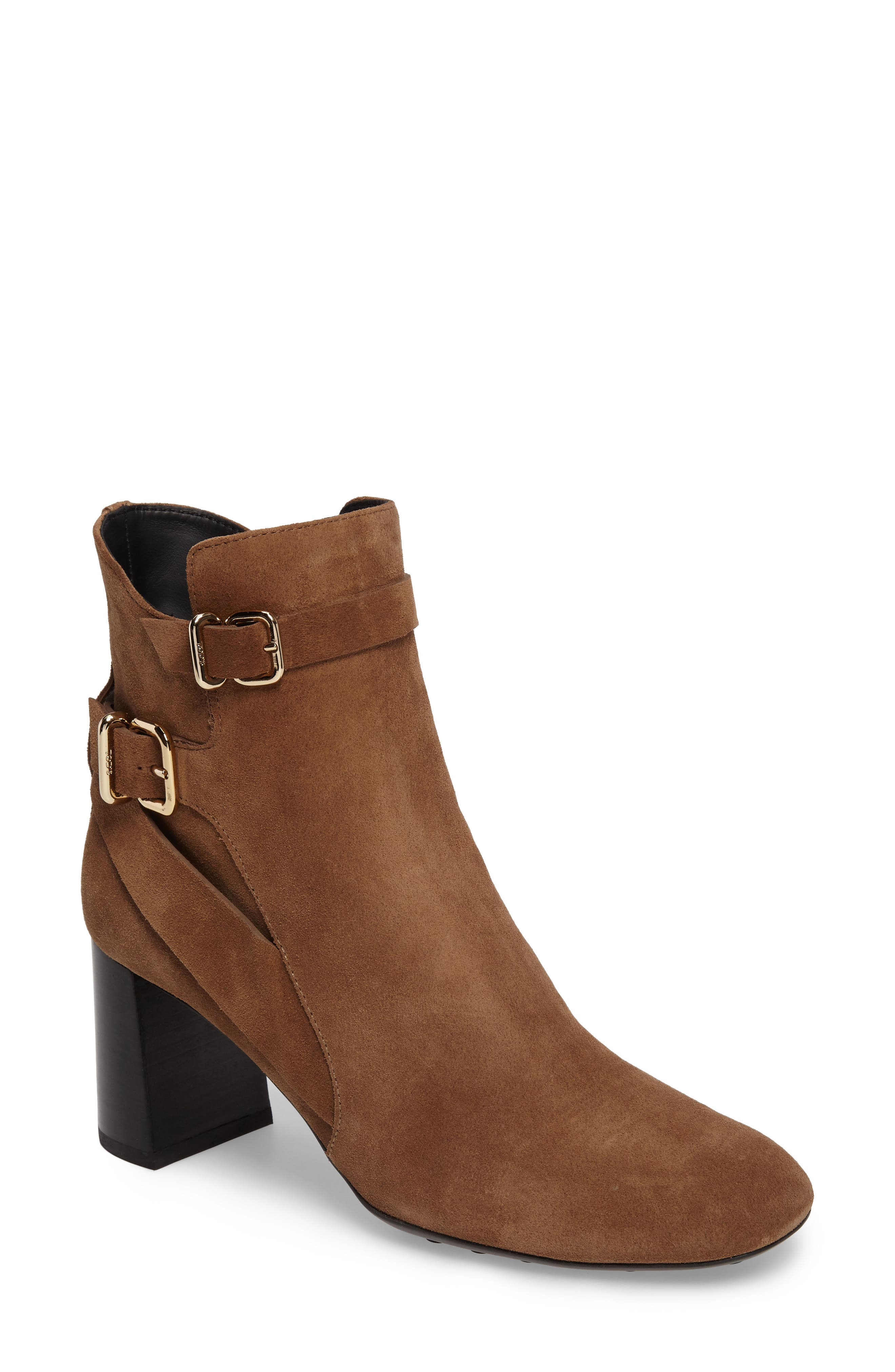 Alternate Image 1 Selected - Tods Double Belt Strap Bootie (Women)