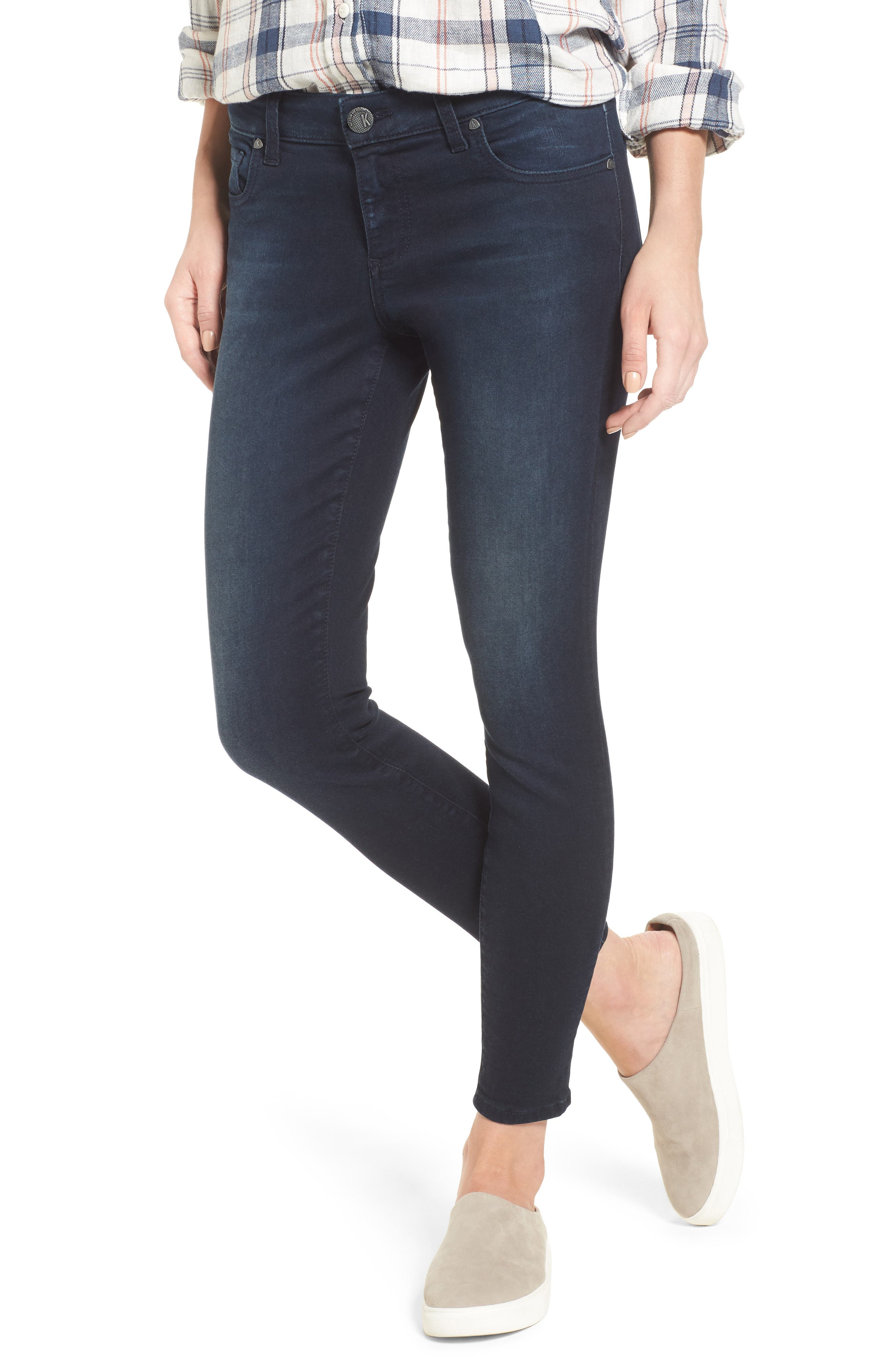 Connie Skinny Ankle Jeans,                         Main,                         color, Recognizable W/ Euro Base Wash