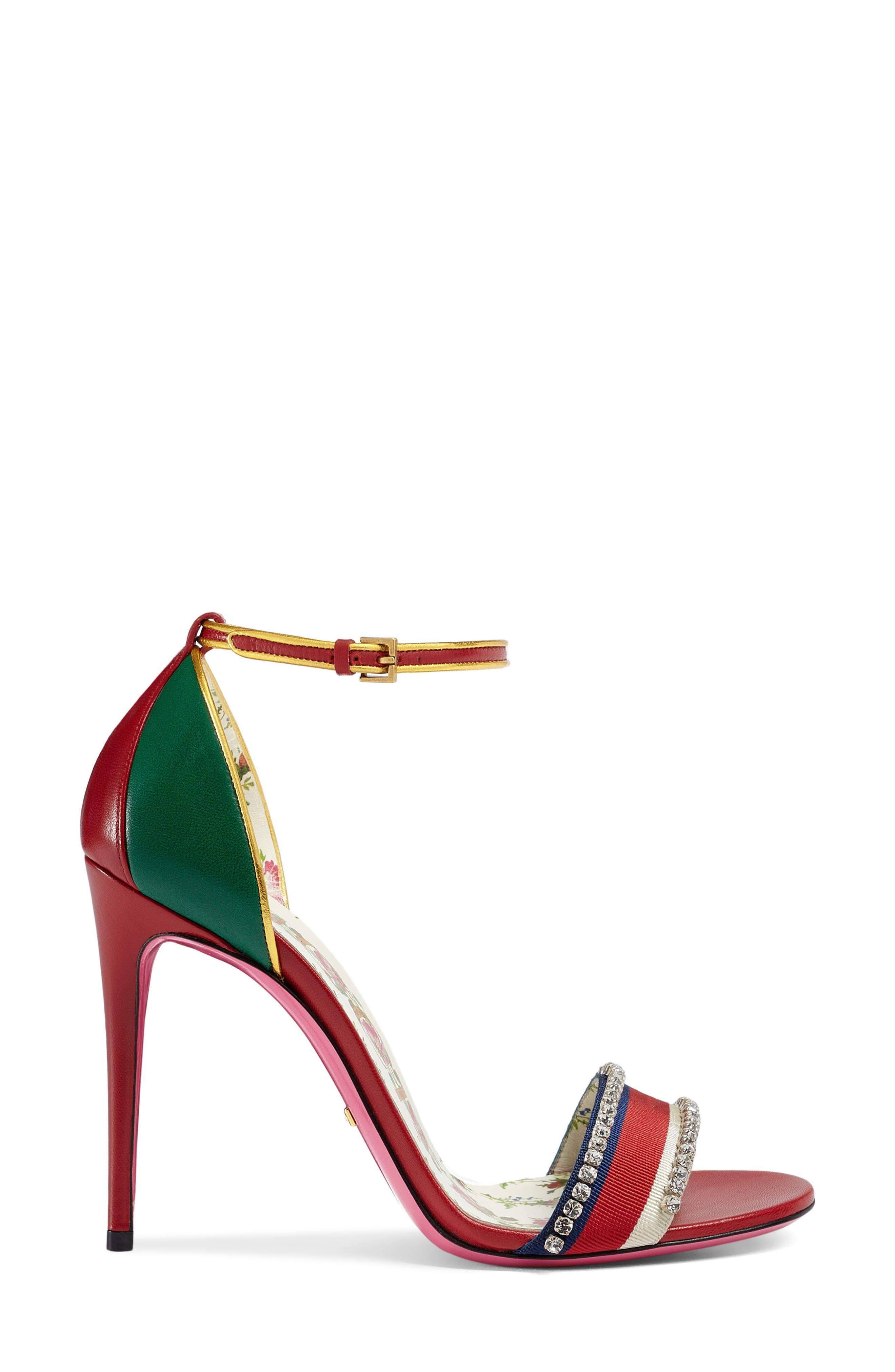 Alternate Image 2  - Gucci Ilse Crystal Embellished Ankle Strap Sandal (Women)