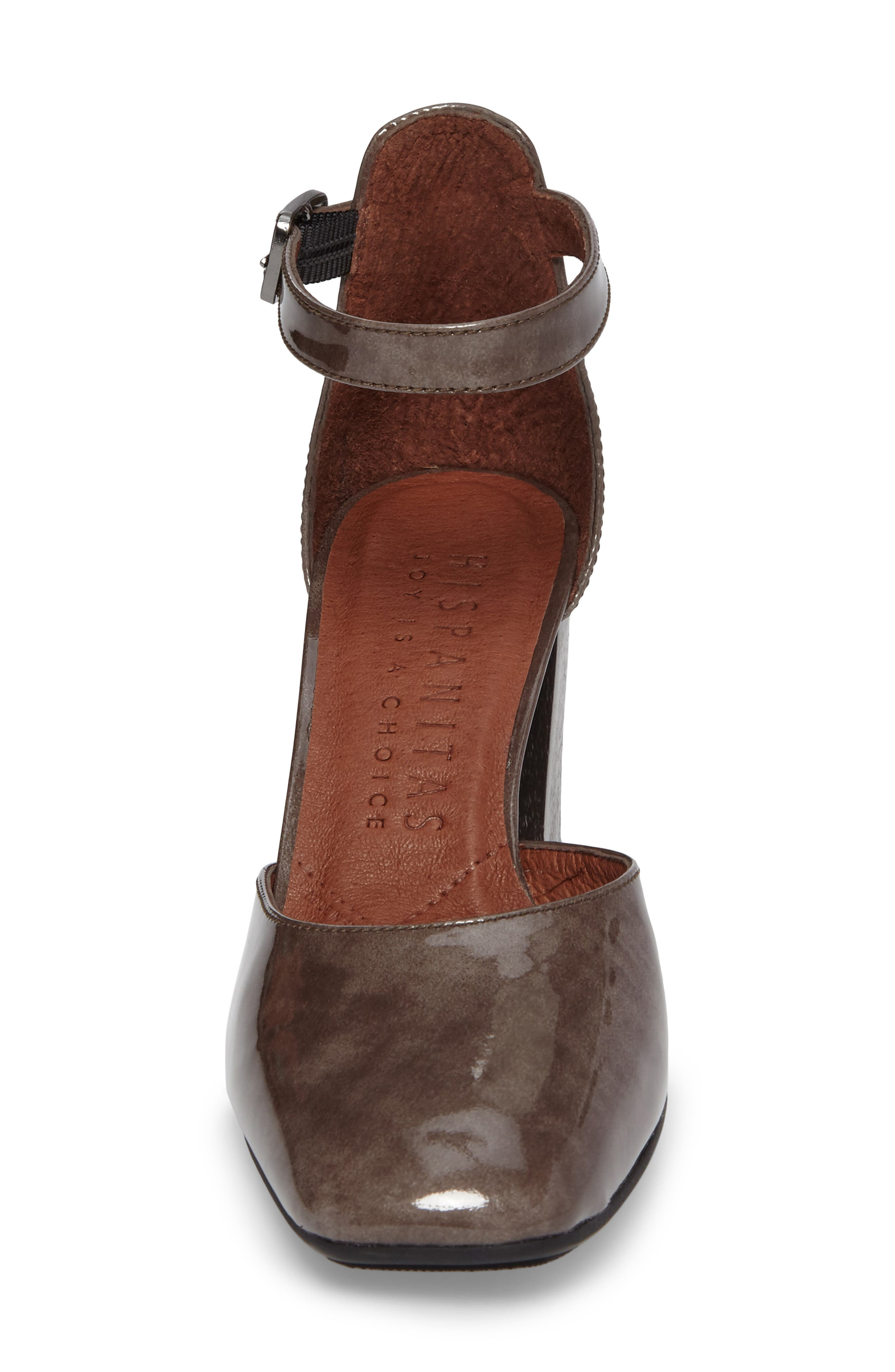 Paulette Flared Heel Pump,                             Alternate thumbnail 4, color,                             Vision Leather