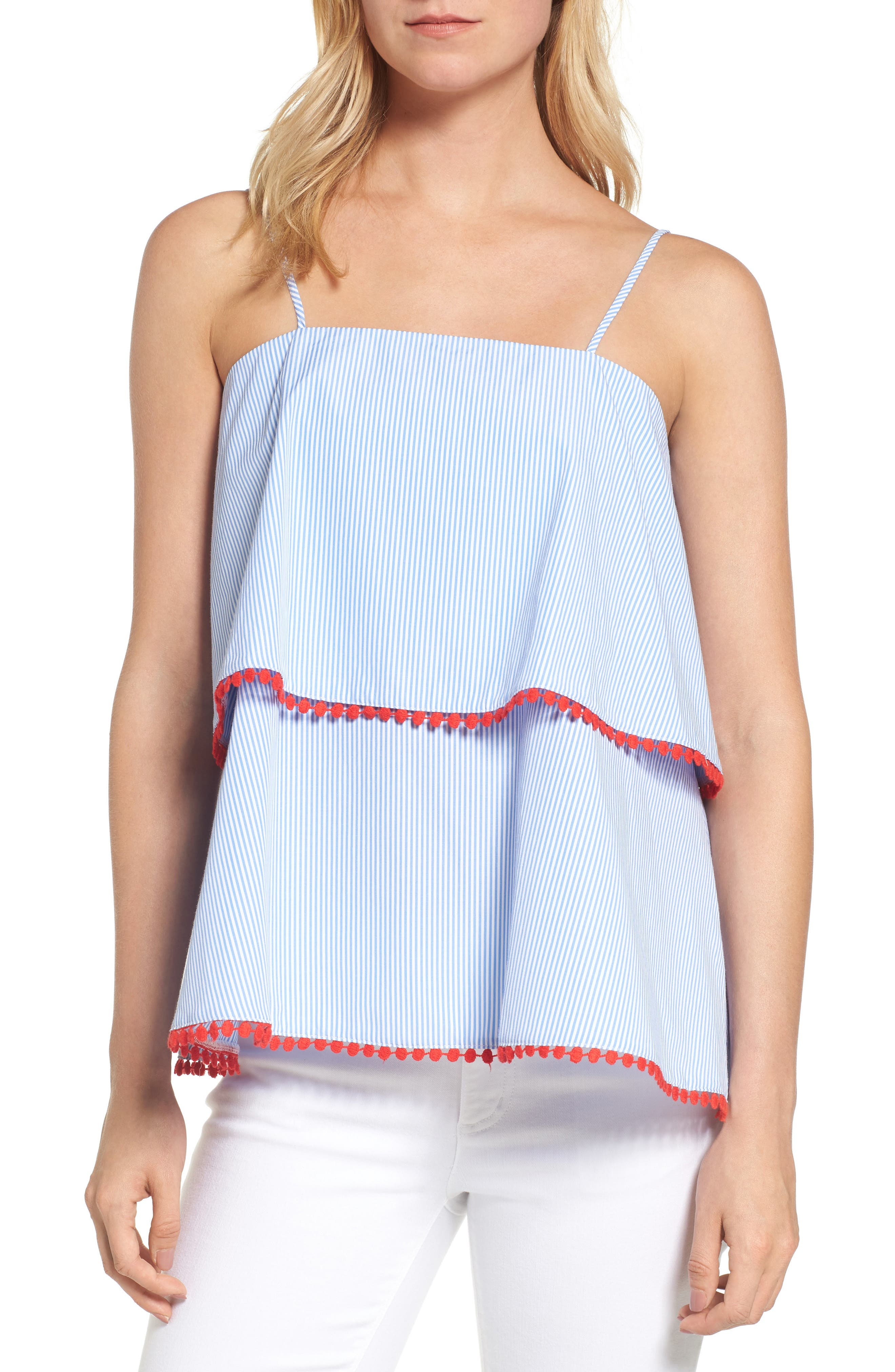 Main Image - Pleione Tiered Babydoll Tank
