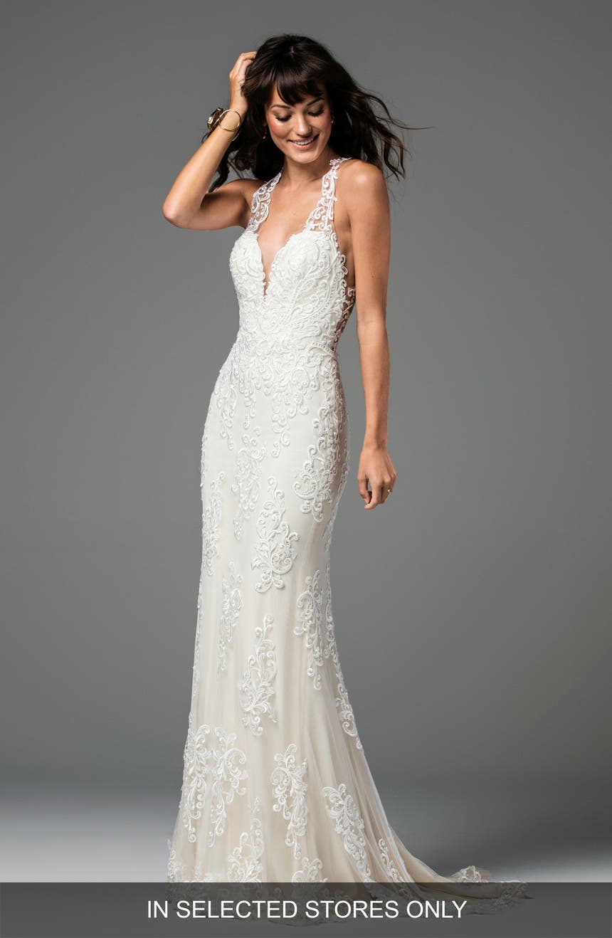 Womens mermaidtrumpet wedding dresses bridal gowns nordstrom willowby sookie backless lace mermaid gown junglespirit Gallery