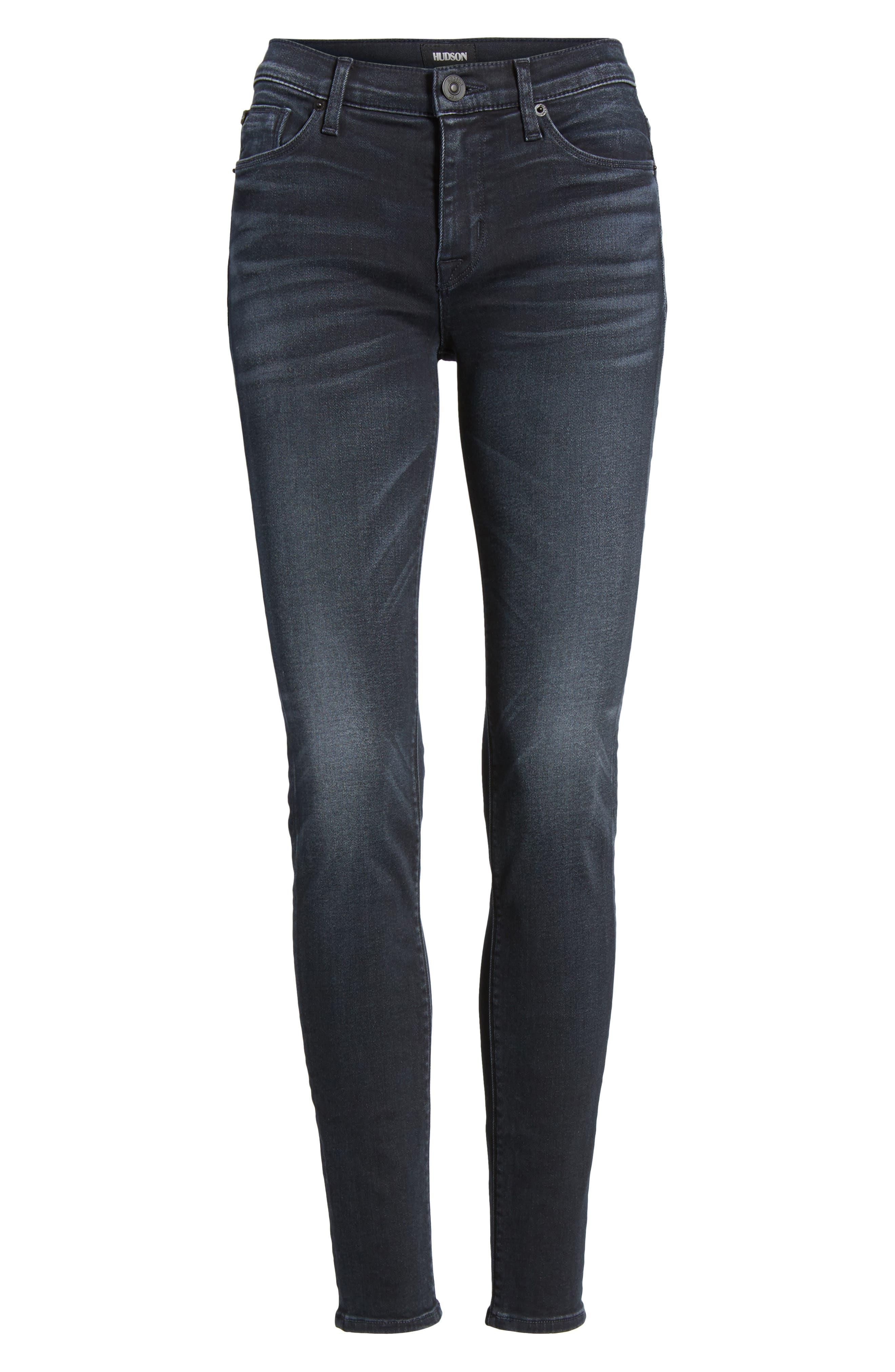 Alternate Image 6  - Hudson Jeans Nico Super Skinny Jeans (Soft Shock)