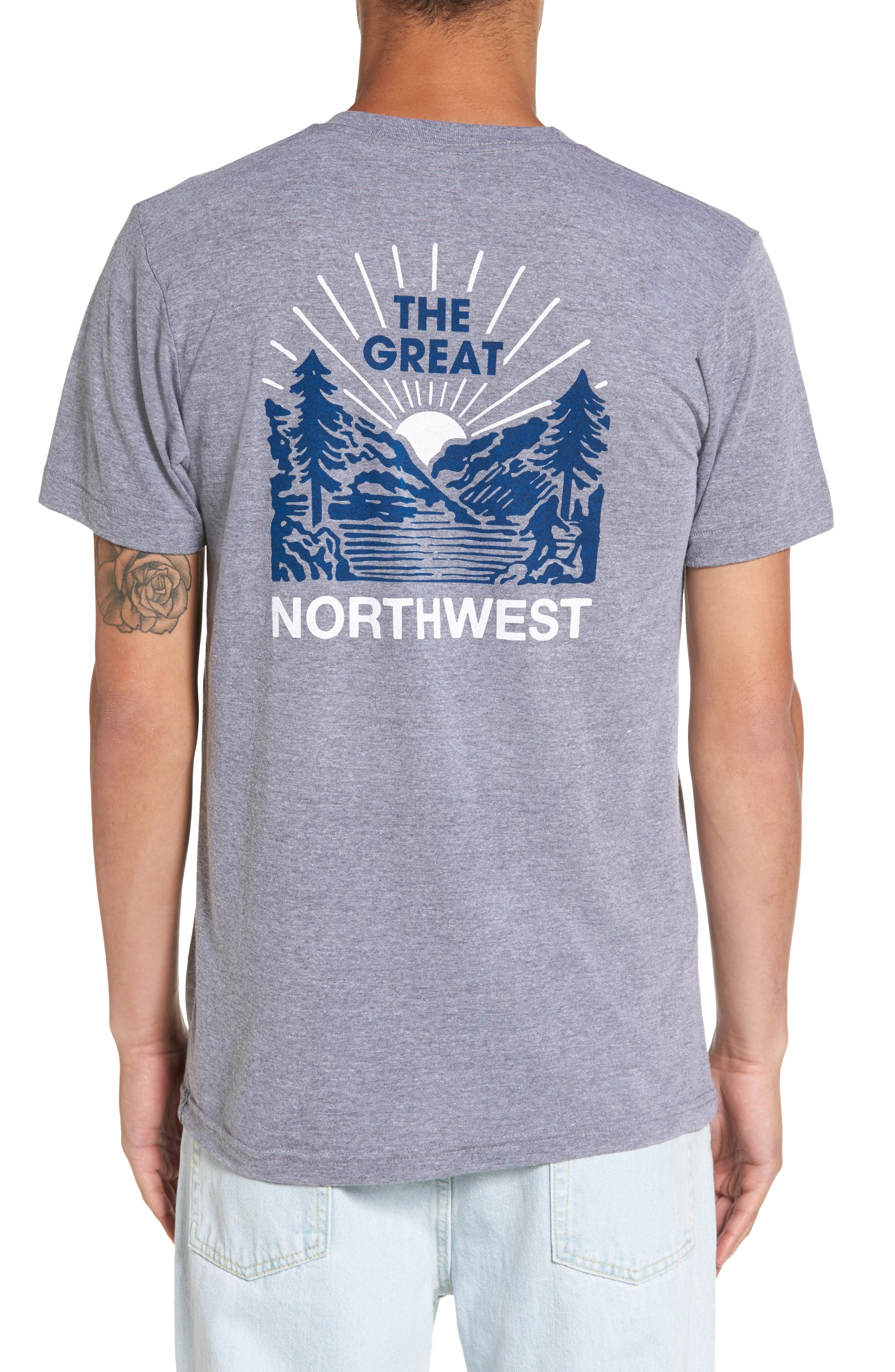 Squatch Valley 2 Graphic T-Shirt,                             Alternate thumbnail 2, color,                             Tri Gray