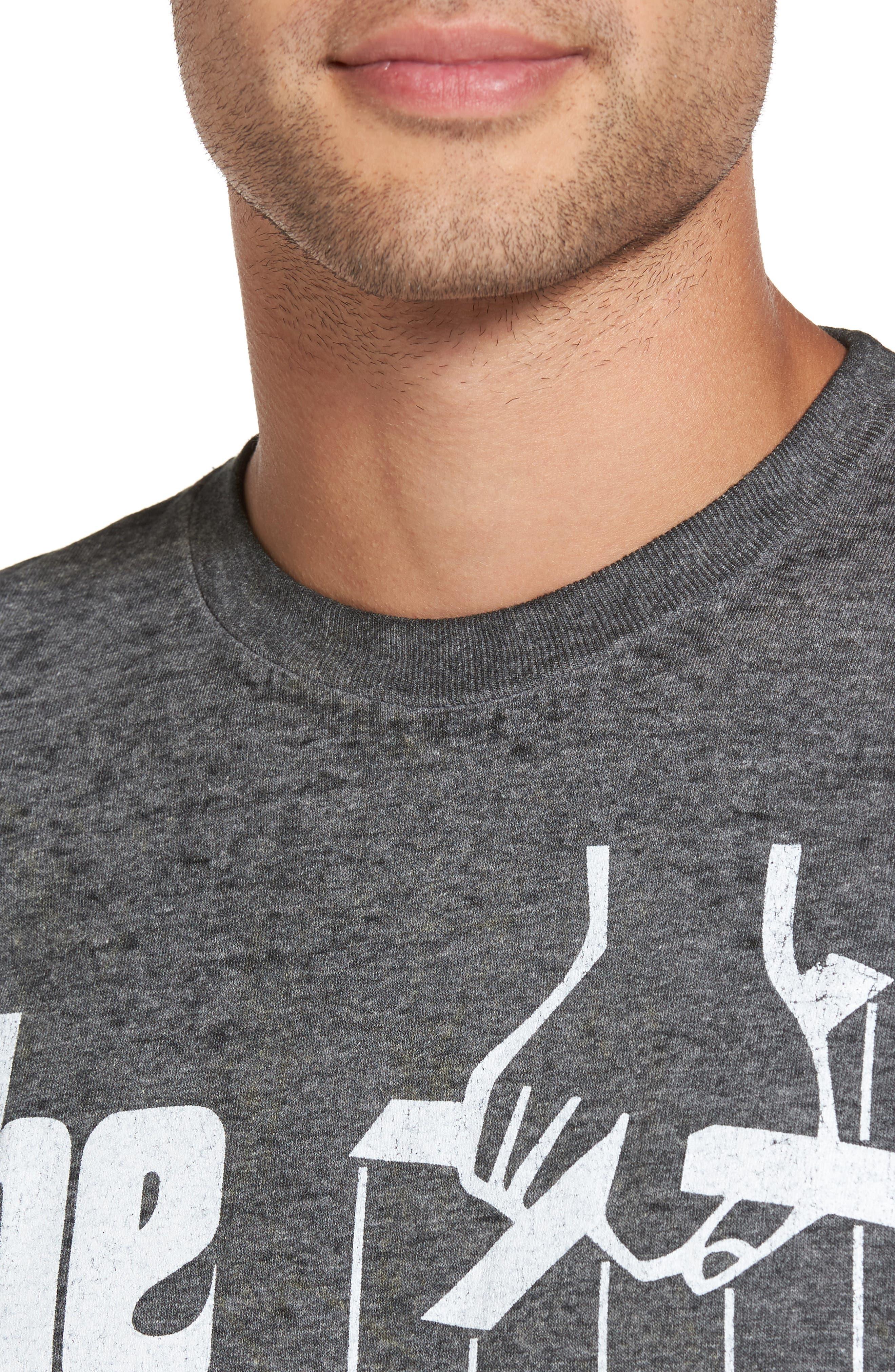Burnout Graphic T-Shirt,                             Alternate thumbnail 4, color,                             Black The Godfather