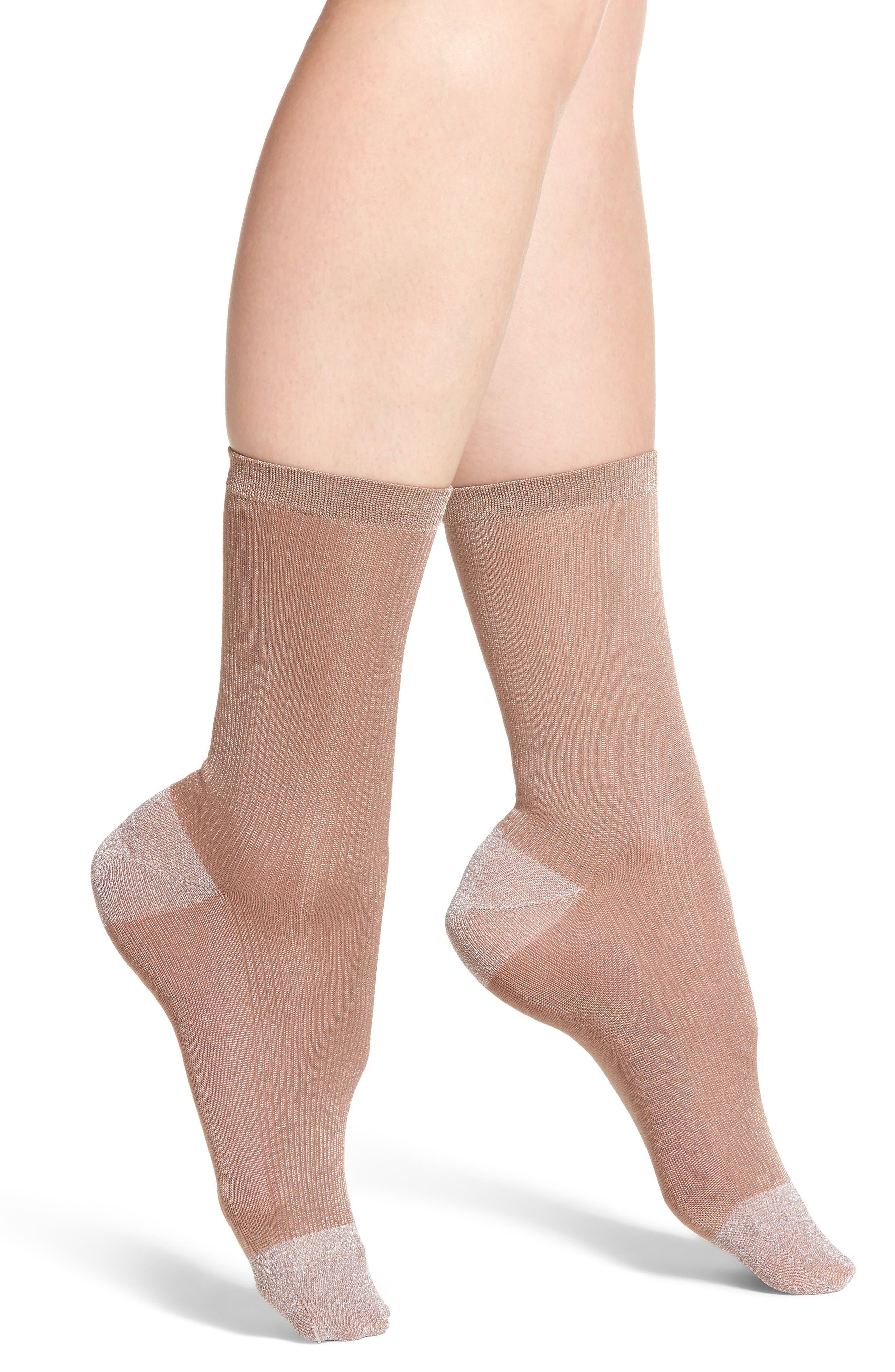 Nordstrom Metallic Trouser Socks
