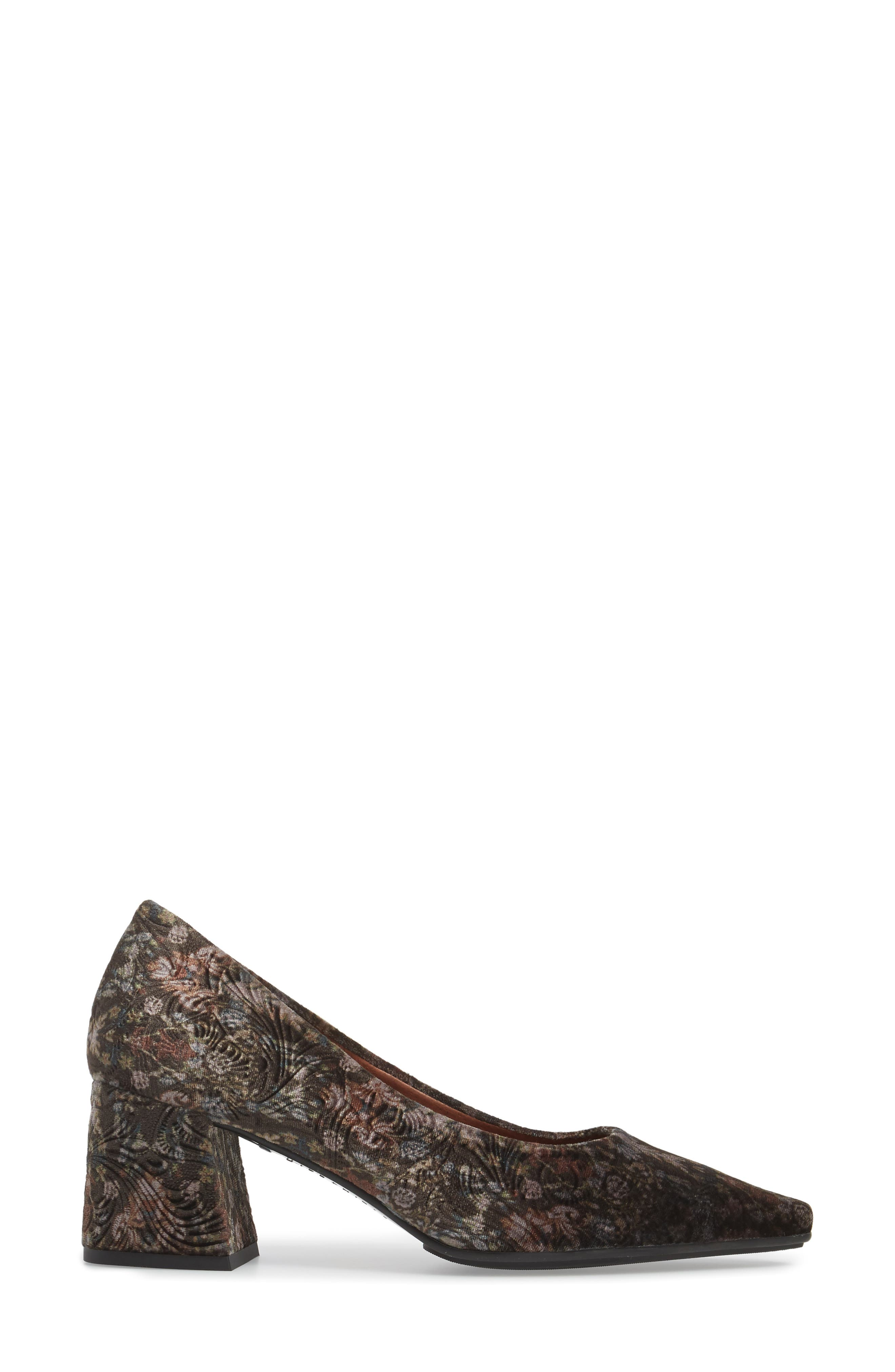 Carson Pointy Toe Pump,                             Alternate thumbnail 3, color,                             Grey Leather