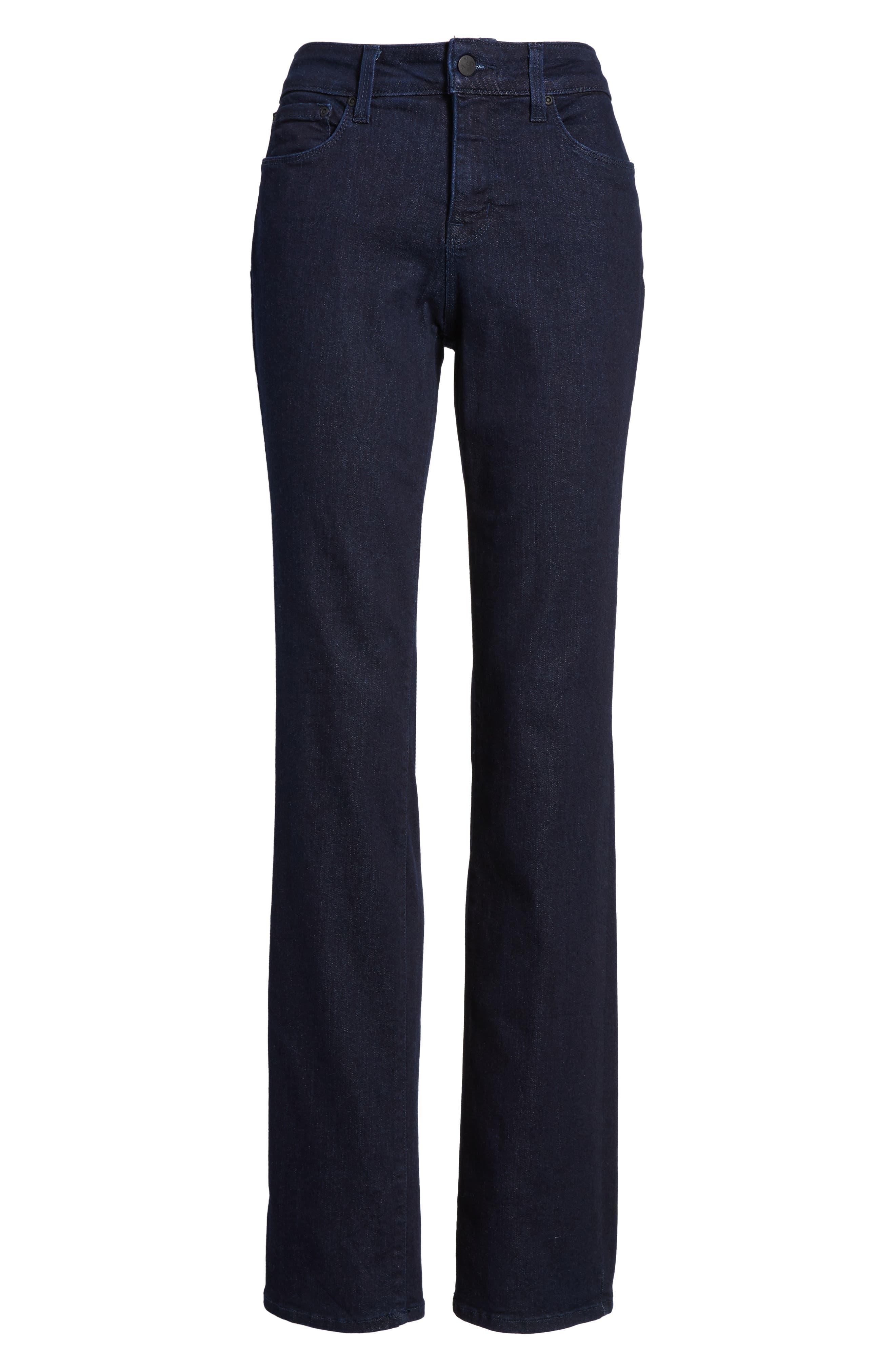 Alternate Image 5  - NYDJ Marilyn Stretch Straight Leg Jeans (Rinse) (Regular & Petite)