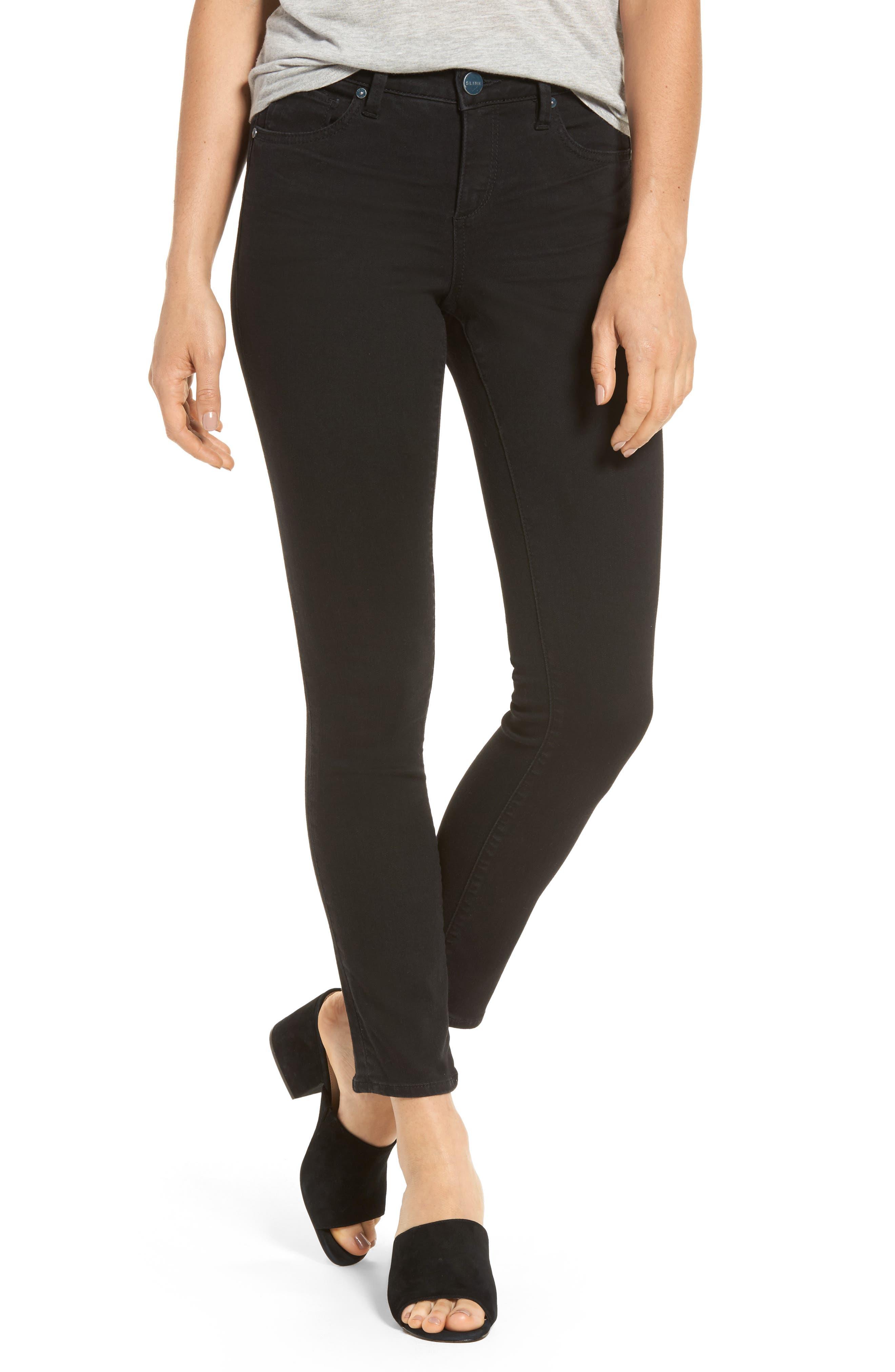Slim Jeans,                         Main,                         color, Black