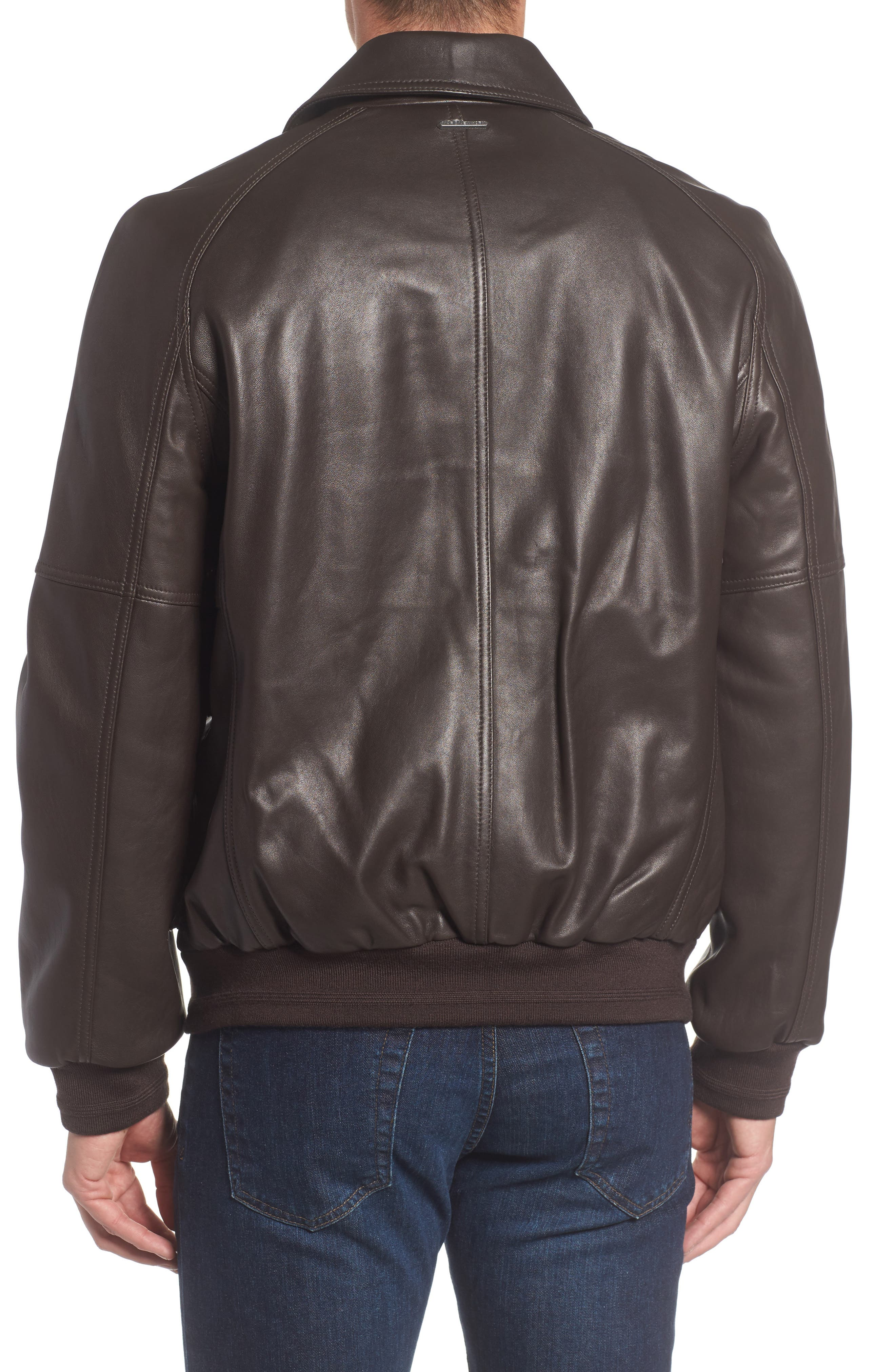 Alternate Image 2  - Andrew Marc Lambskin Leather Aviator Jacket