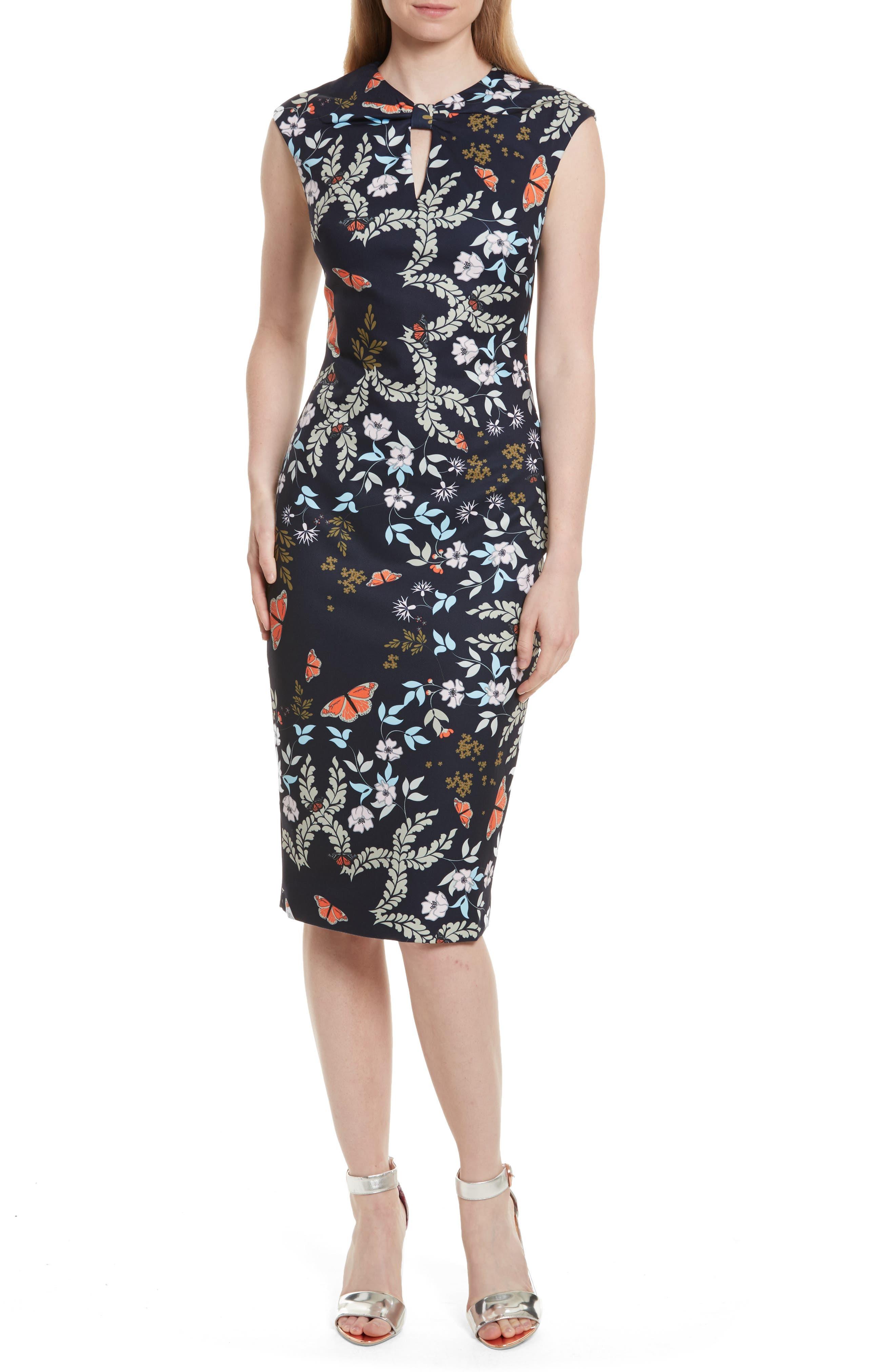 Ted Baker London Kiarra Kyoto Gardens Sheath Dress