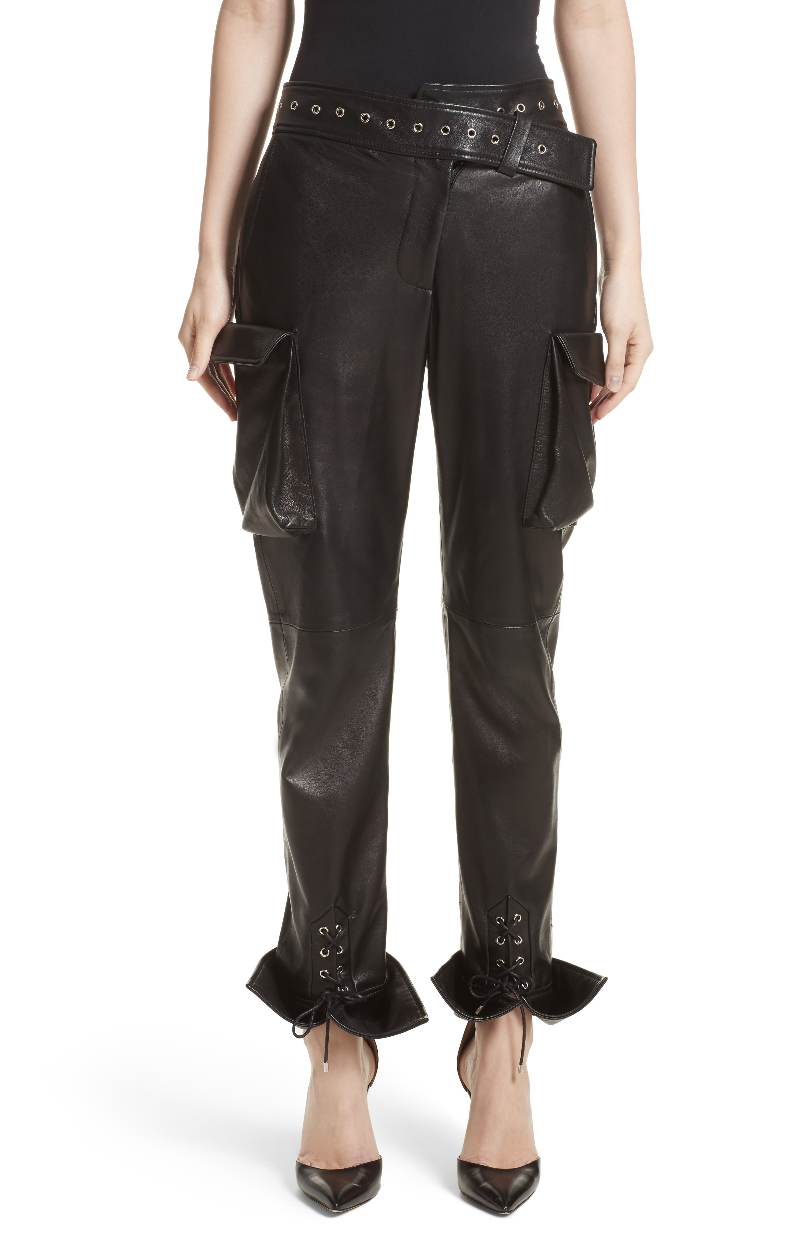 Monse Leather Cargo Pants