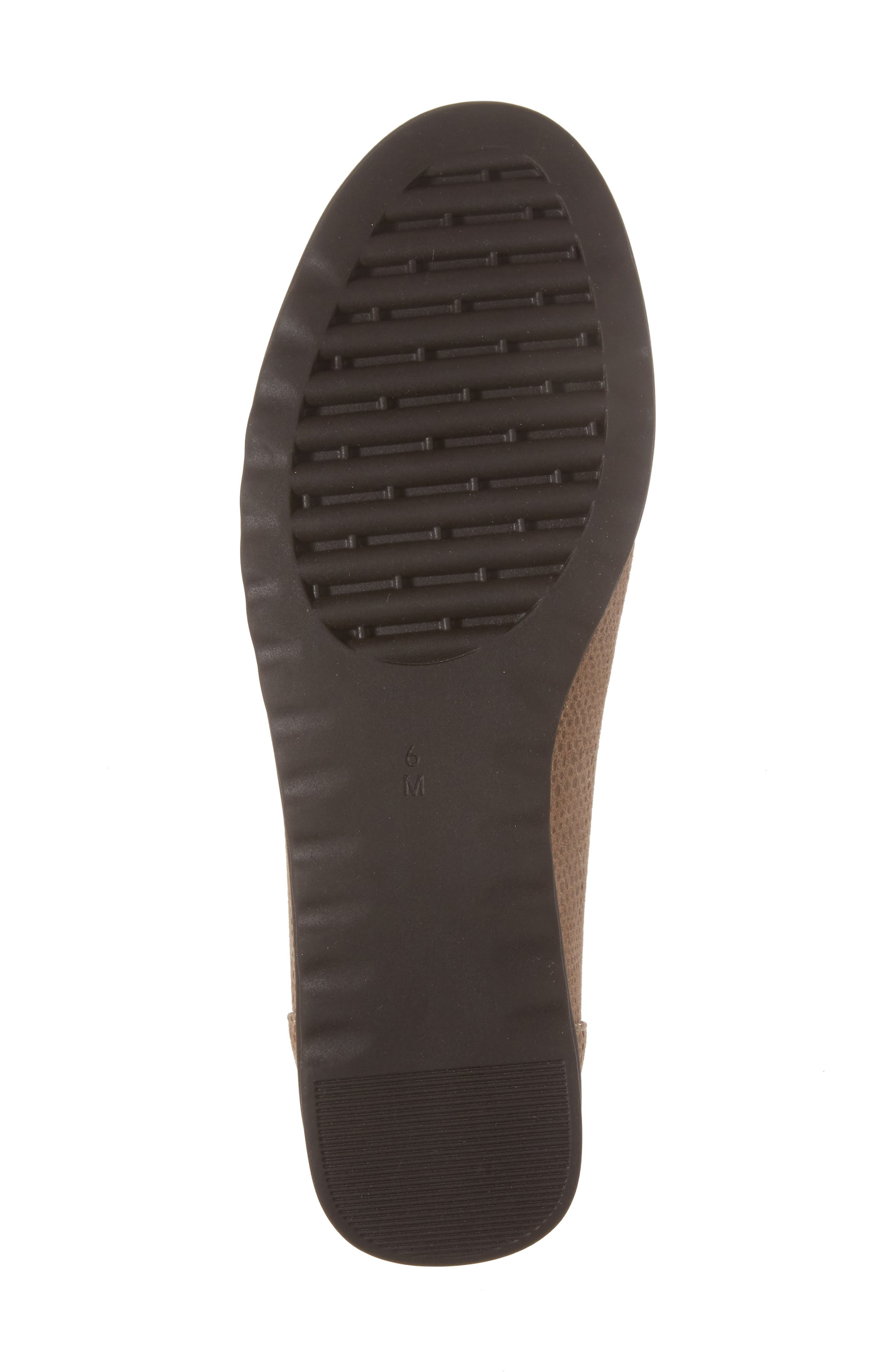 Donia Flat,                             Alternate thumbnail 6, color,                             Taupe Print Fabric