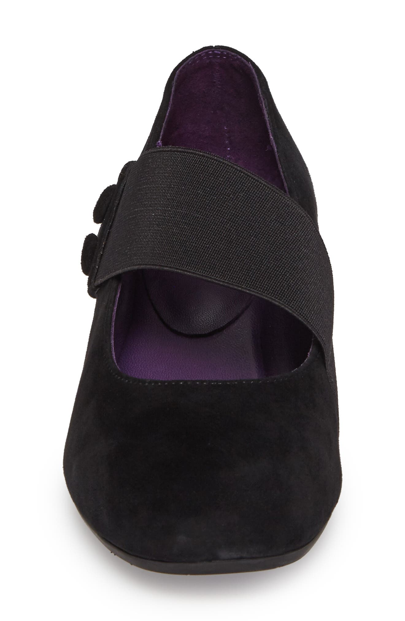 Mabel Mary Jane Wedge,                             Alternate thumbnail 4, color,                             Black Suede