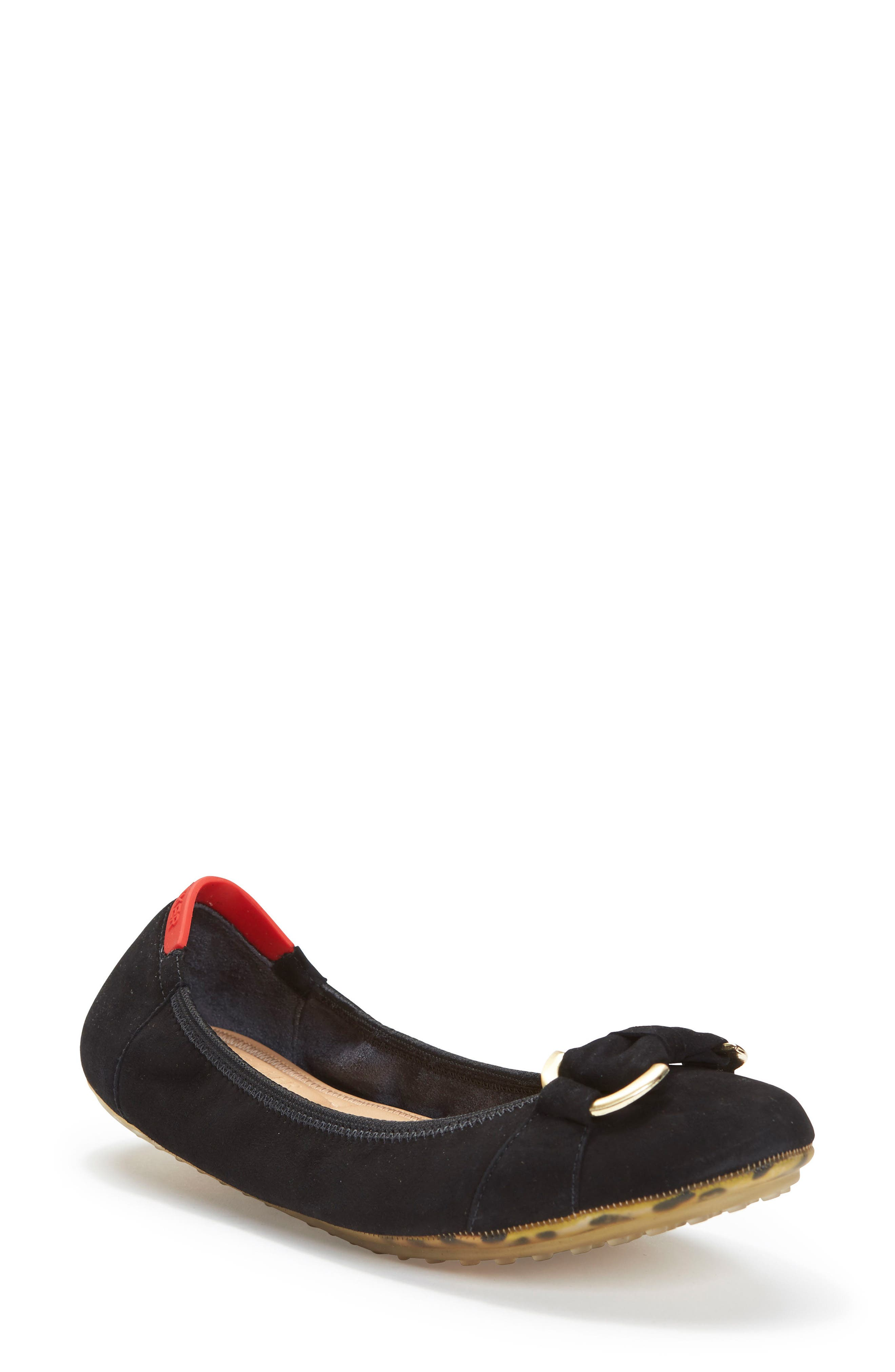 Kelly Flat,                             Main thumbnail 1, color,                             Black Suede