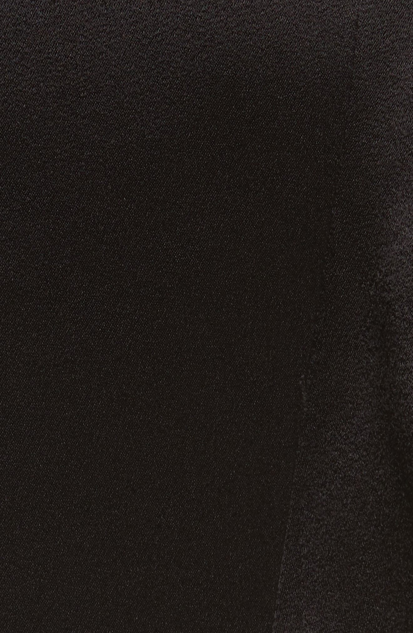 Side Ruffle Jumpsuit,                             Alternate thumbnail 5, color,                             Black