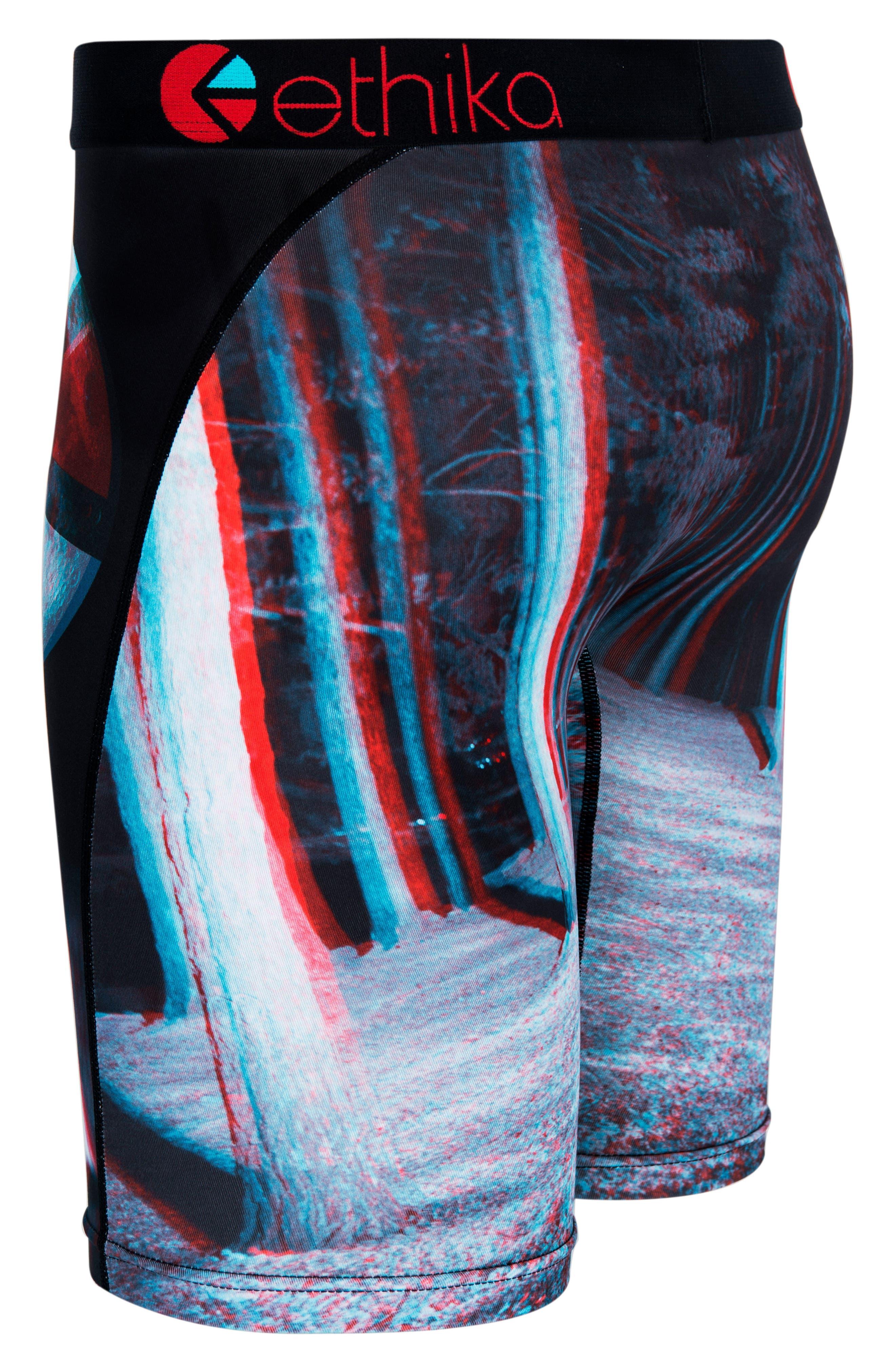 Alpha Moon 3D Boxer Briefs,                             Alternate thumbnail 3, color,                             Black Multi