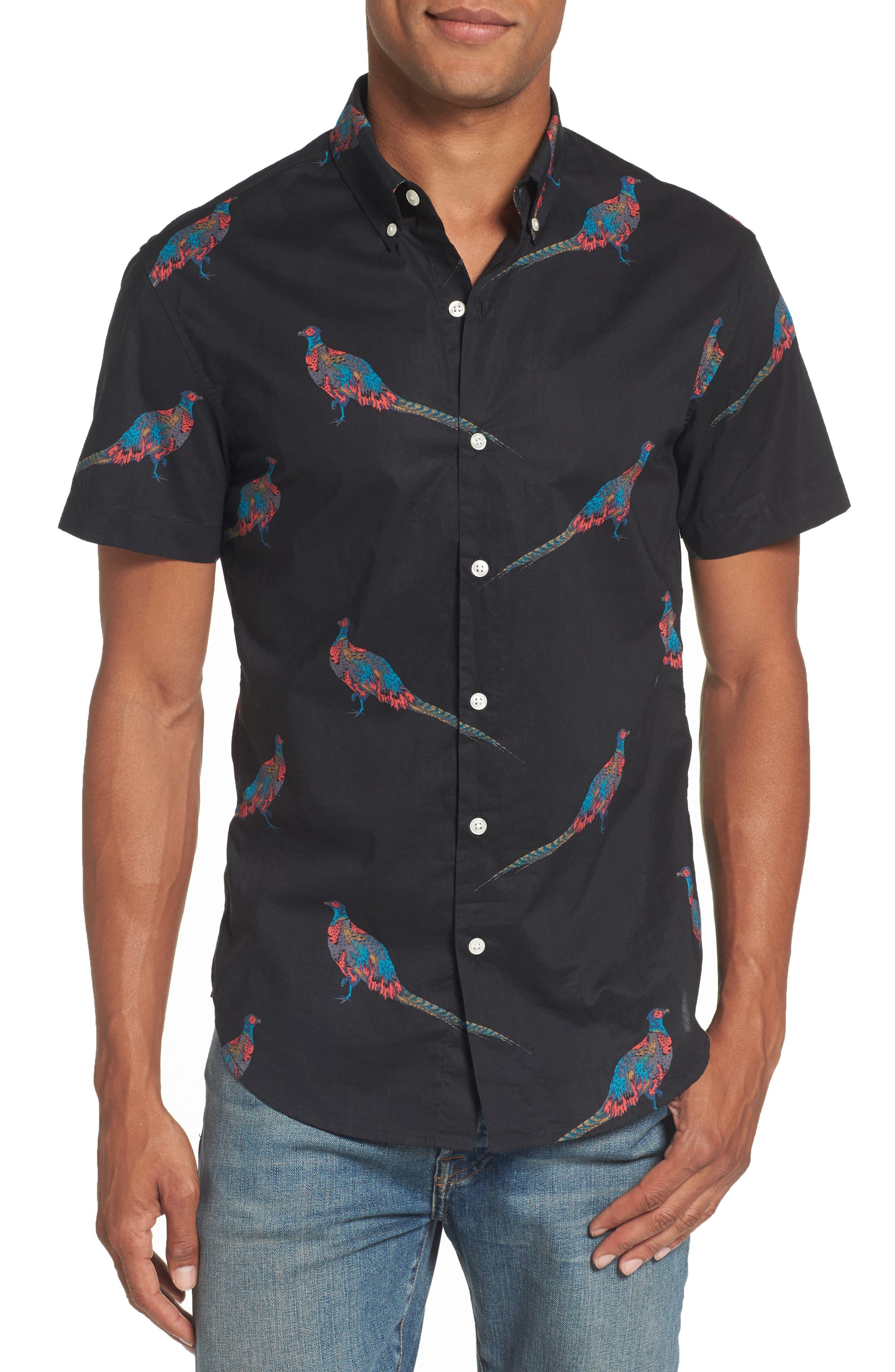 Bonobos Riviera Slim Fit Quail Print Woven Shirt