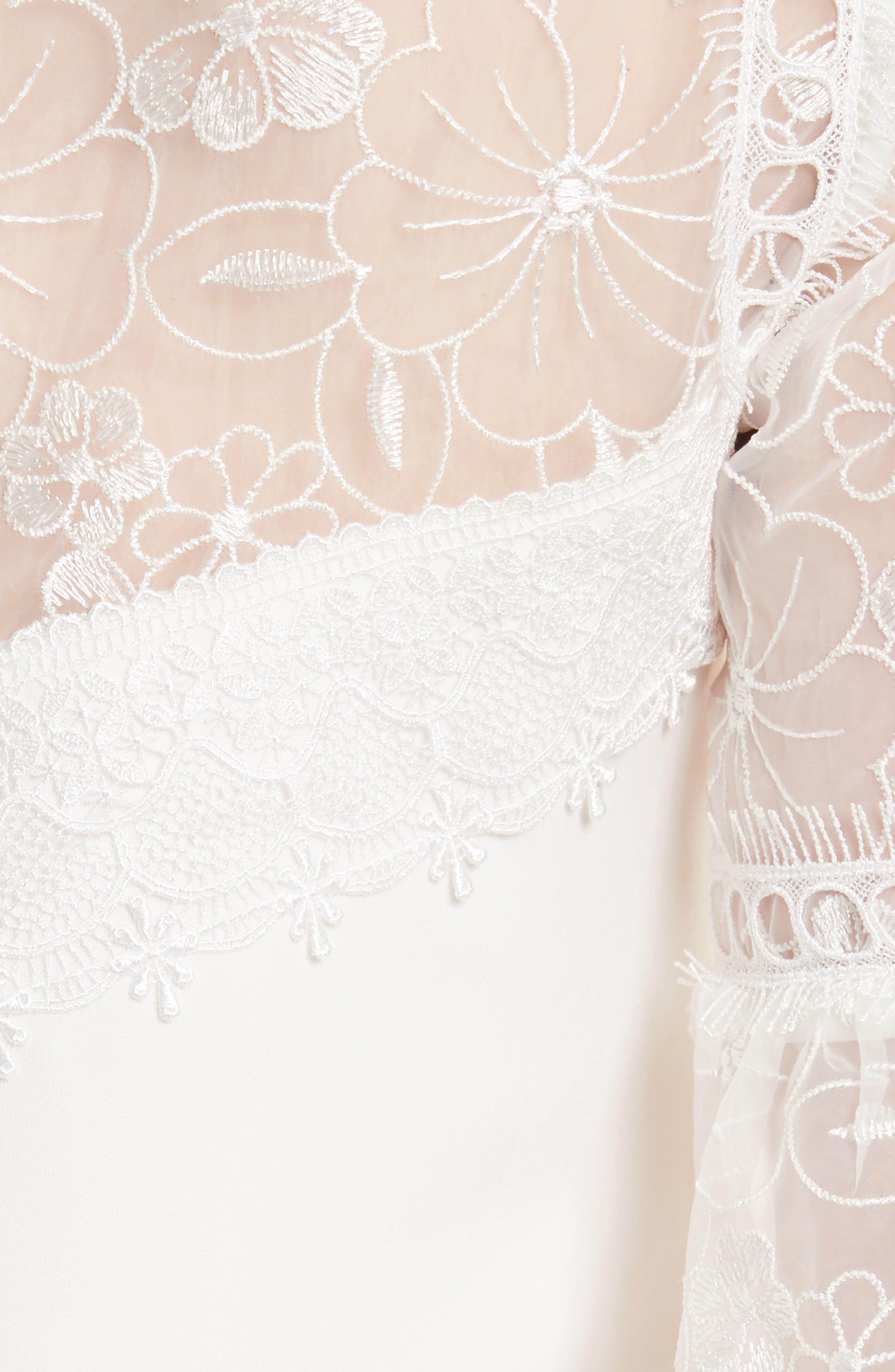 Alternate Image 5  - Ted Baker London Raechal Lace Sleeve A-Line Dress