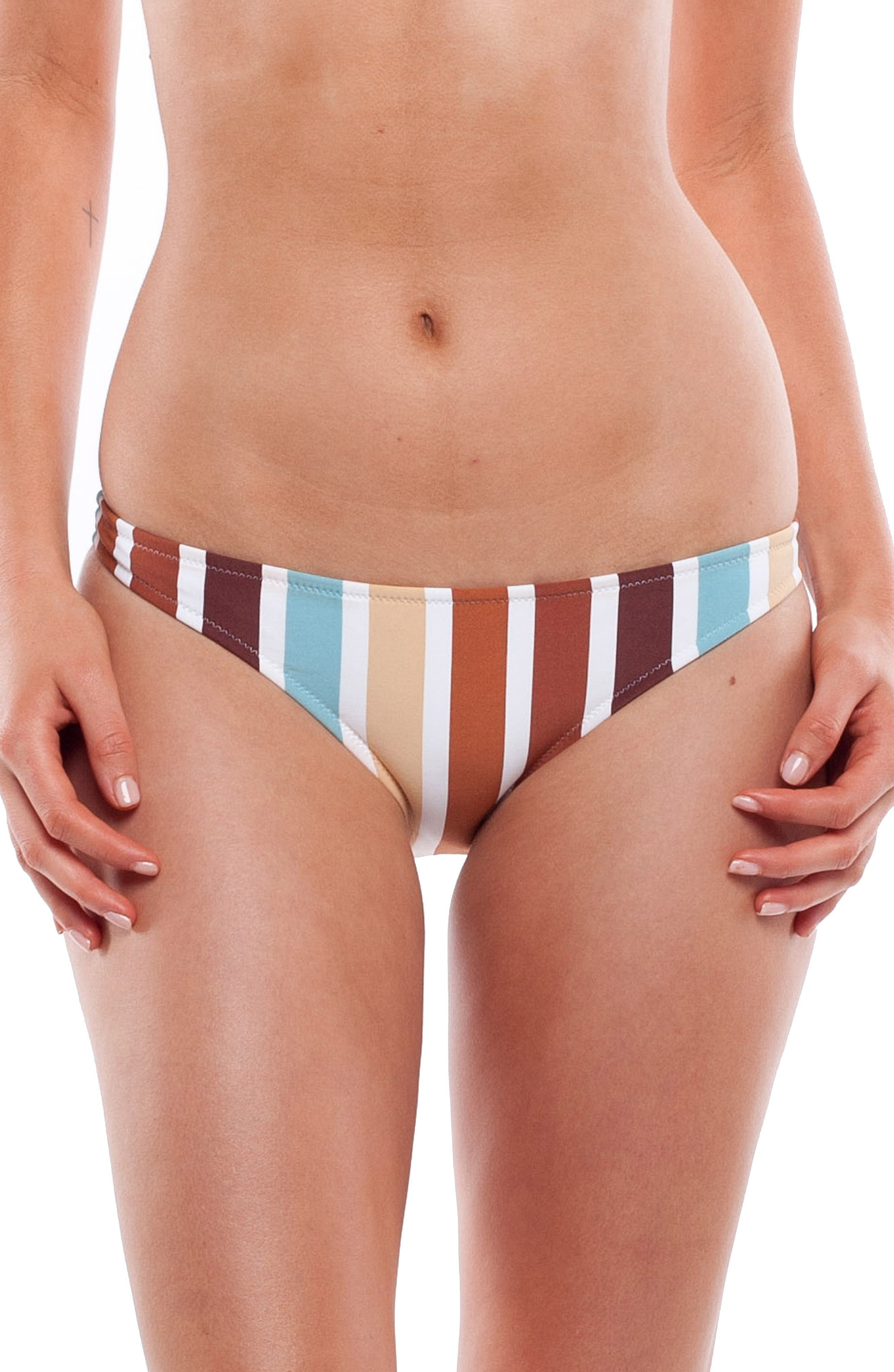 Zimbabwe Cheeky Bikini Bottoms,                             Alternate thumbnail 2, color,                             Blue Multi
