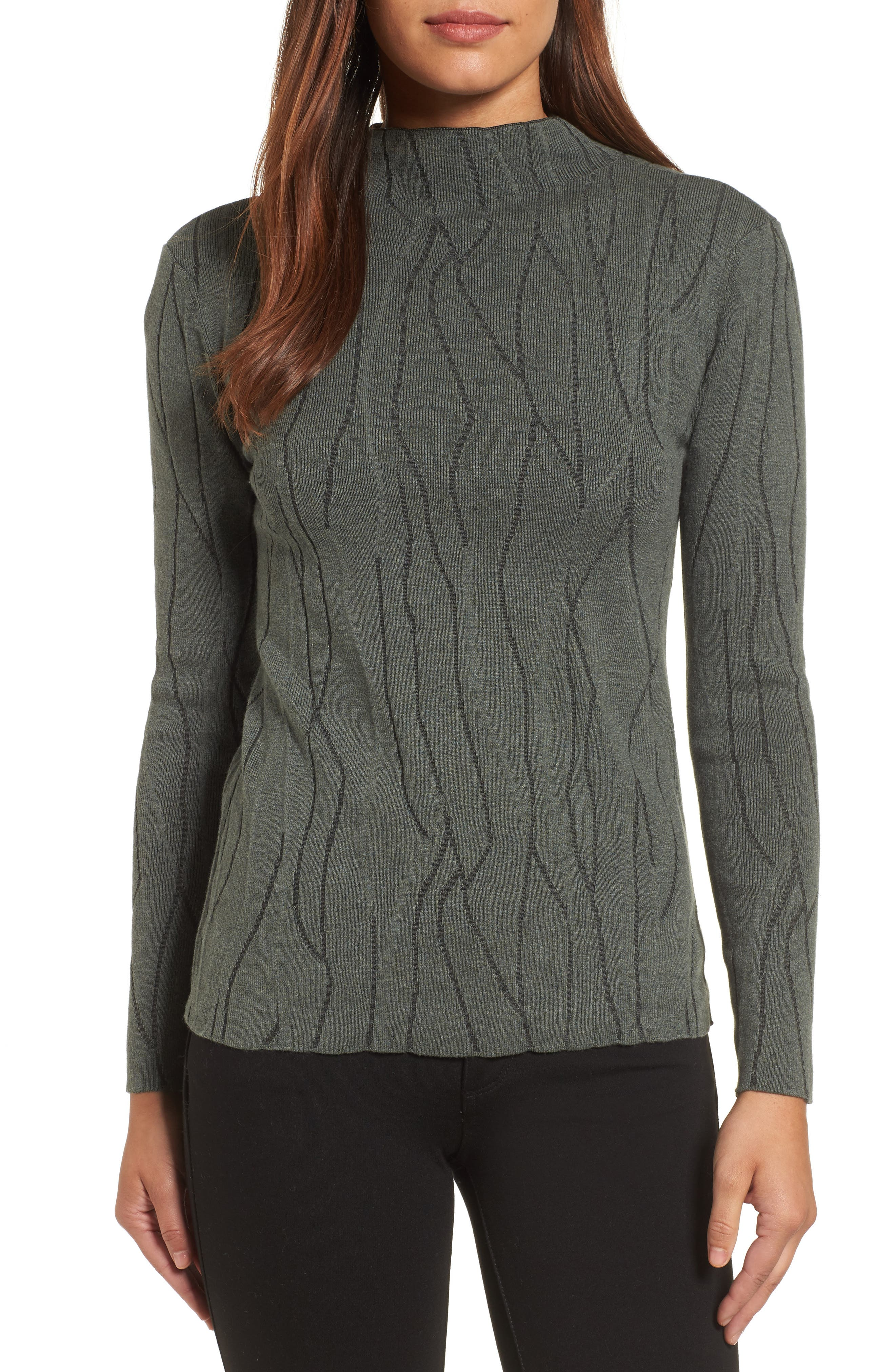 NIC+ZOE Artisanal Crackle Jacquard Sweater (Regular & Petite)