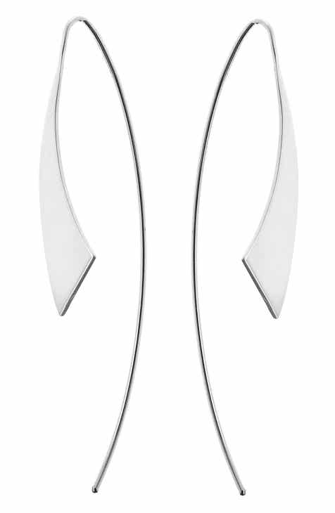 Lana Jewelry Gloss Threader Hoop Earrings