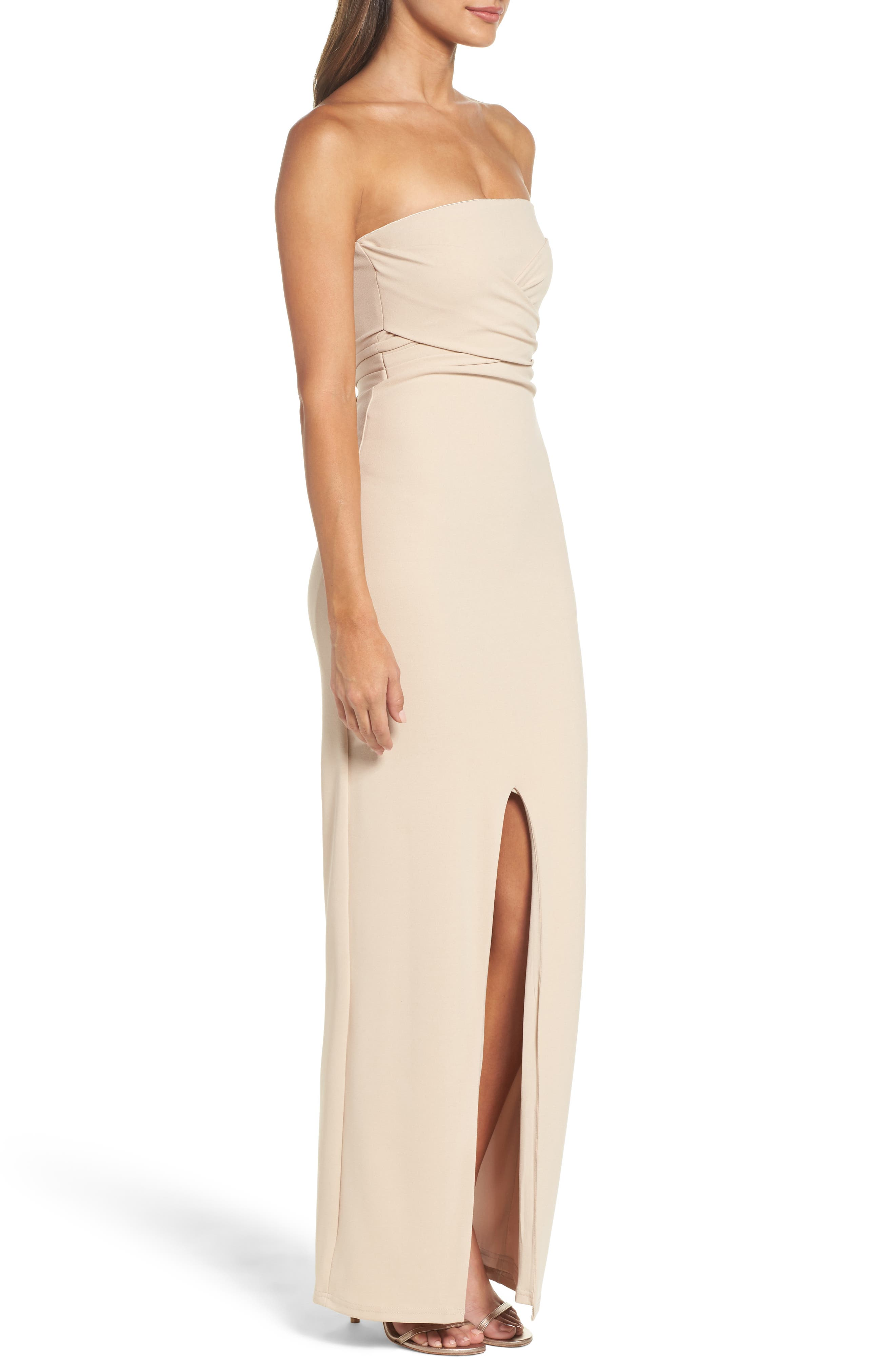 Alternate Image 3  - Lulus Own the Night Strapless Maxi Dress
