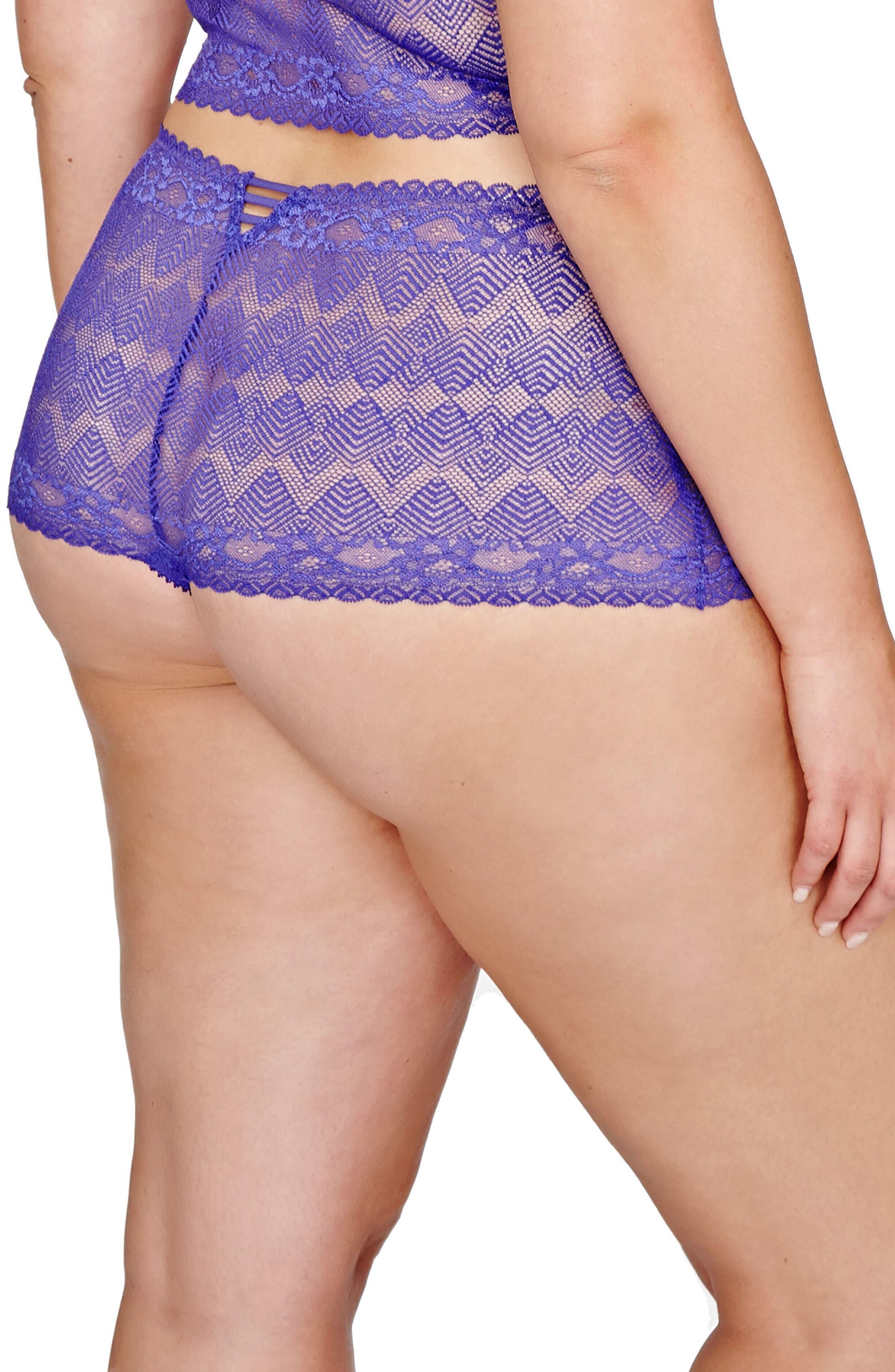 Alternate Image 2  - Ashley Graham Lace Thong (Plus Size)