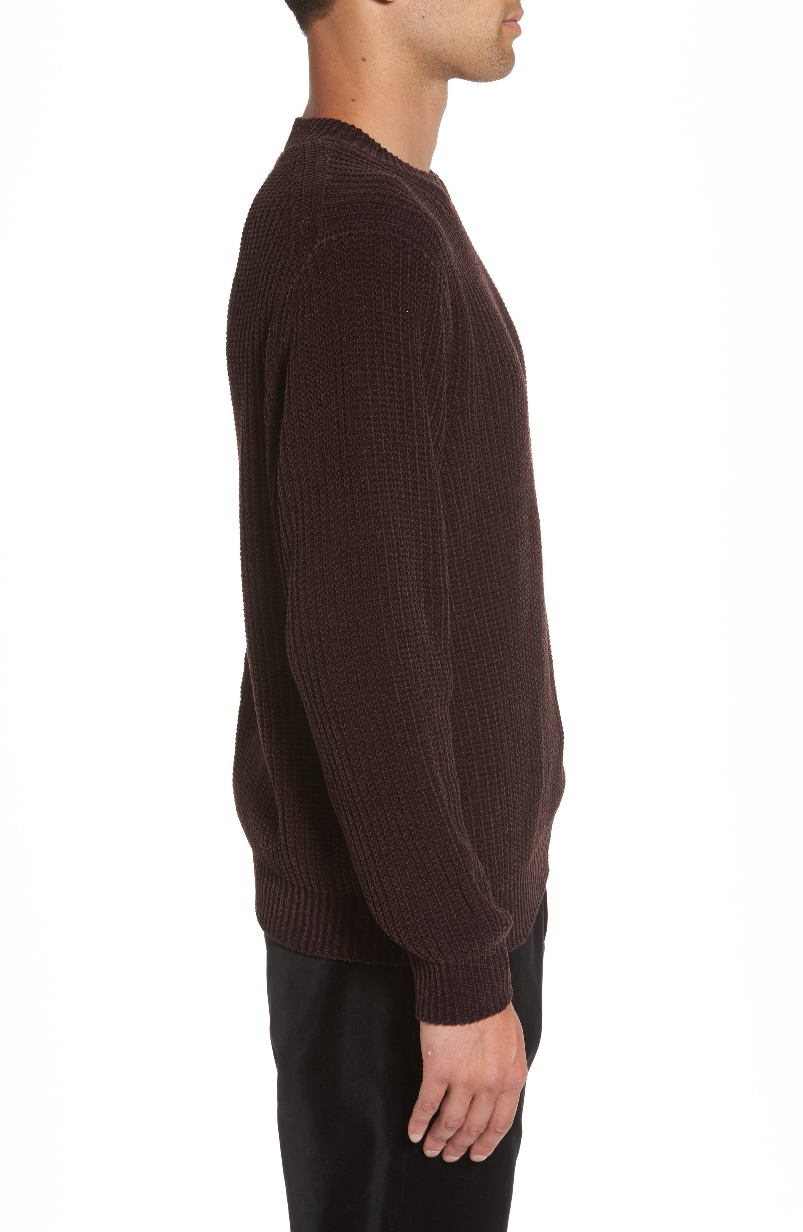 Alternate Image 3  - Vince Ribbed Crewneck Sweater