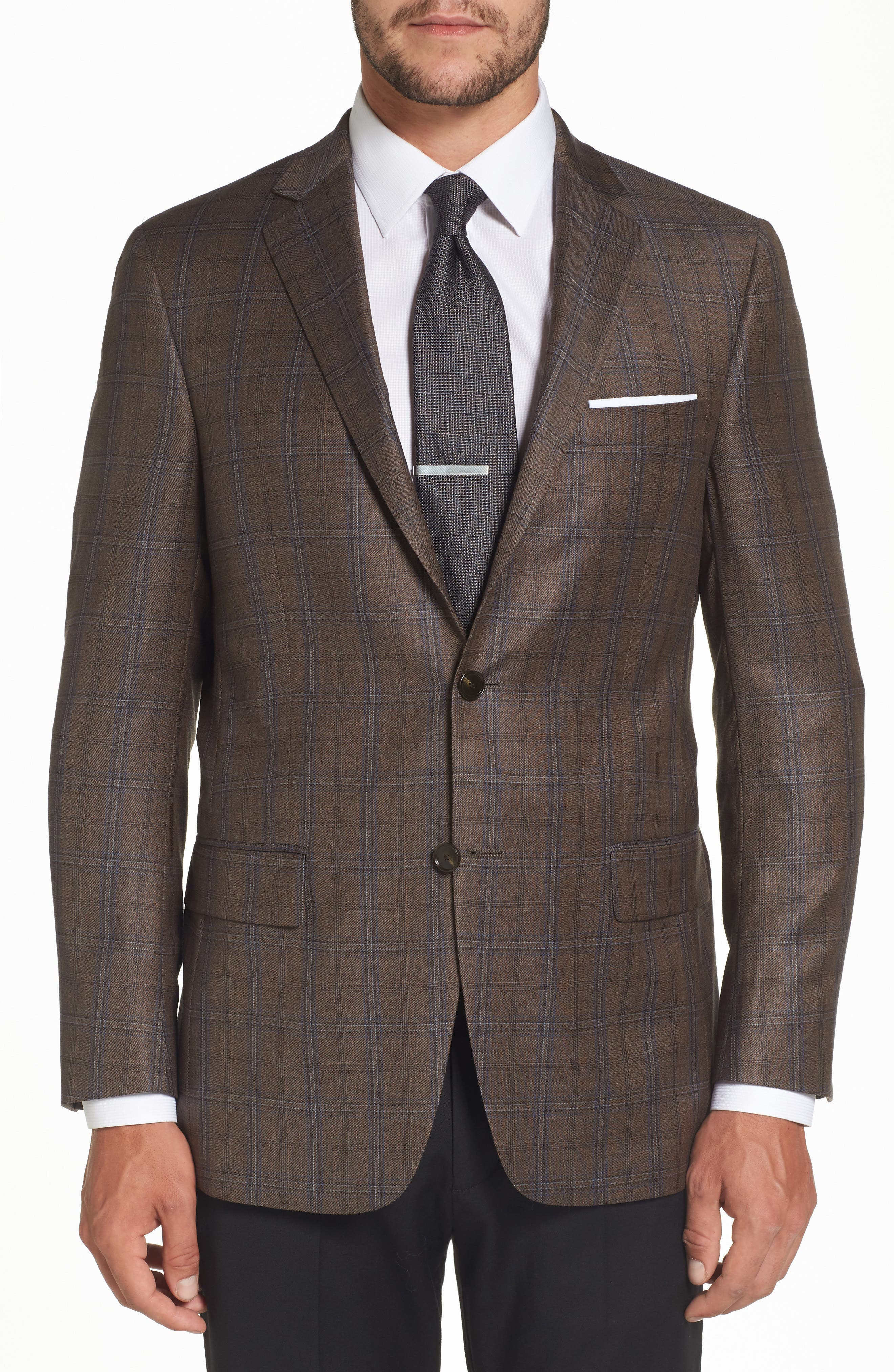 Main Image - Hart Schaffner Marx Classic Fit Plaid Wool Sport Coat