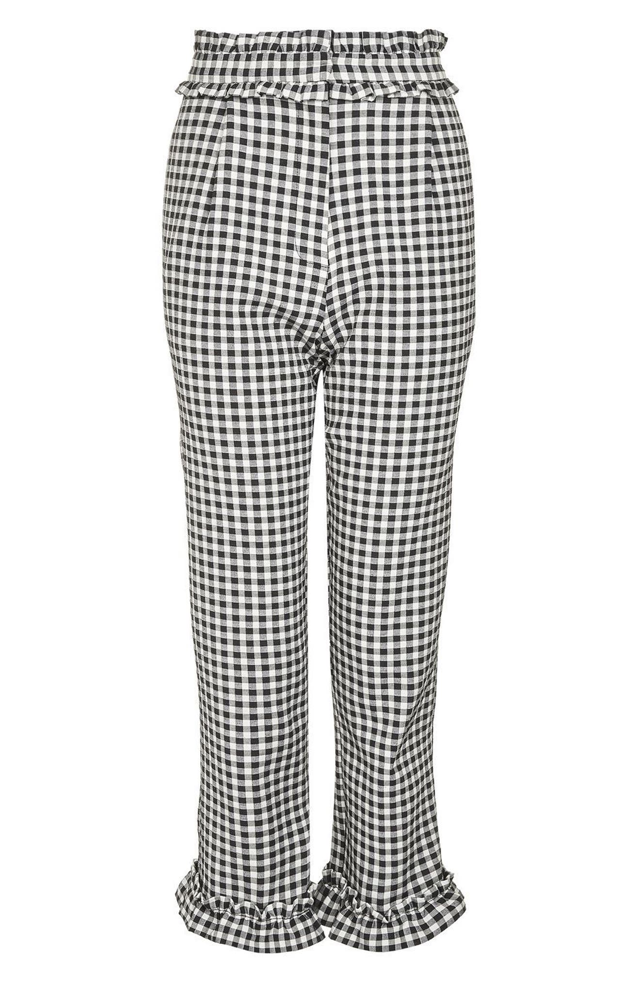Alternate Image 4  - Topshop Gingham Ruffle Trousers