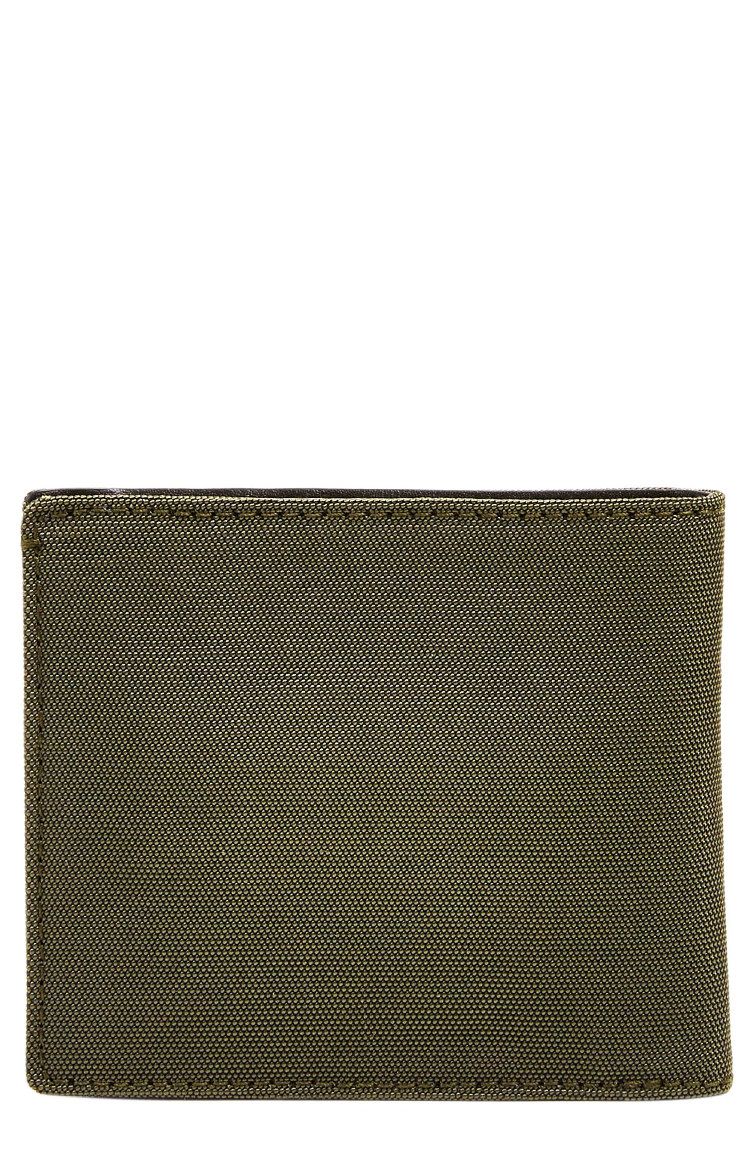 Passcase Wallet,                         Main,                         color, Dark Green