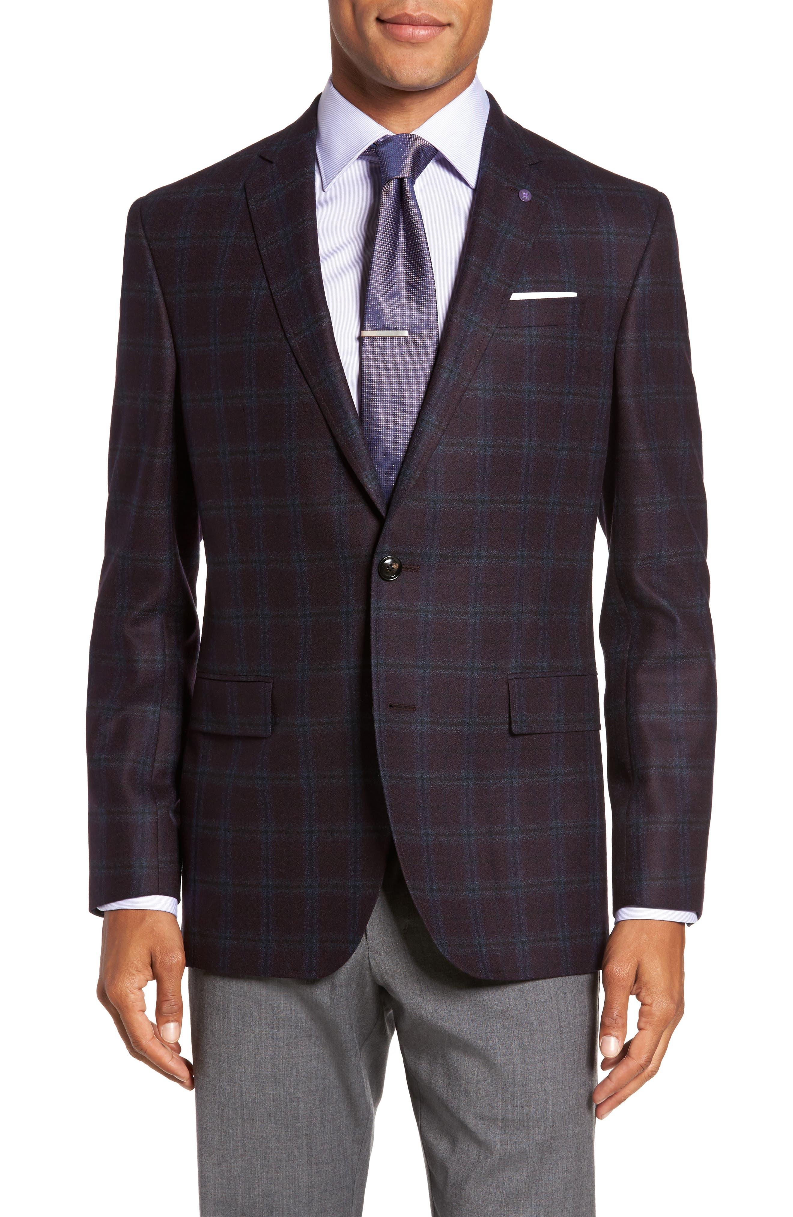 Alternate Image 1 Selected - Ted Baker London Trim Fit Plaid Wool Sport Coat
