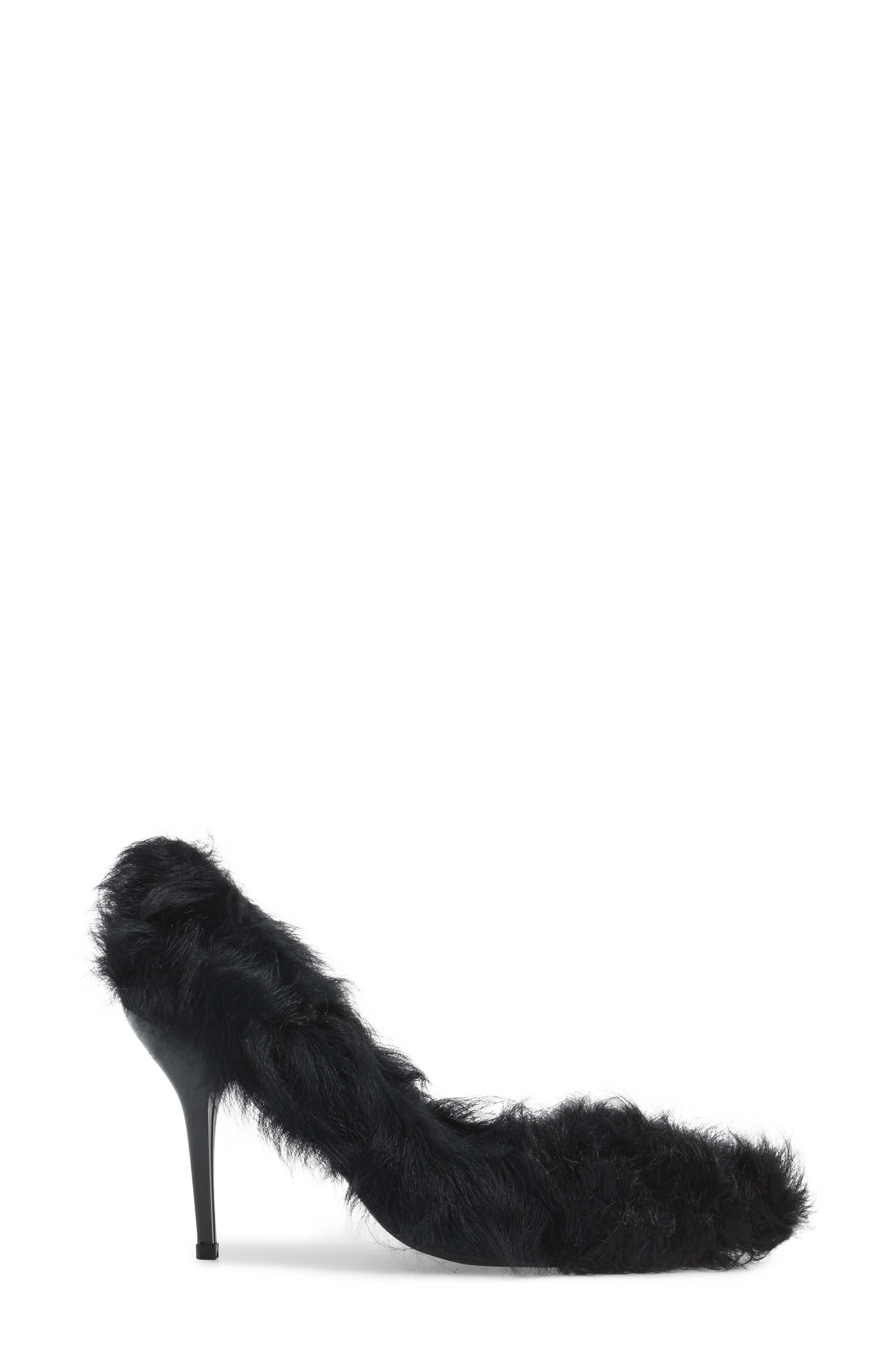 Ikon Genuine Shearling Pump,                             Alternate thumbnail 3, color,                             Black