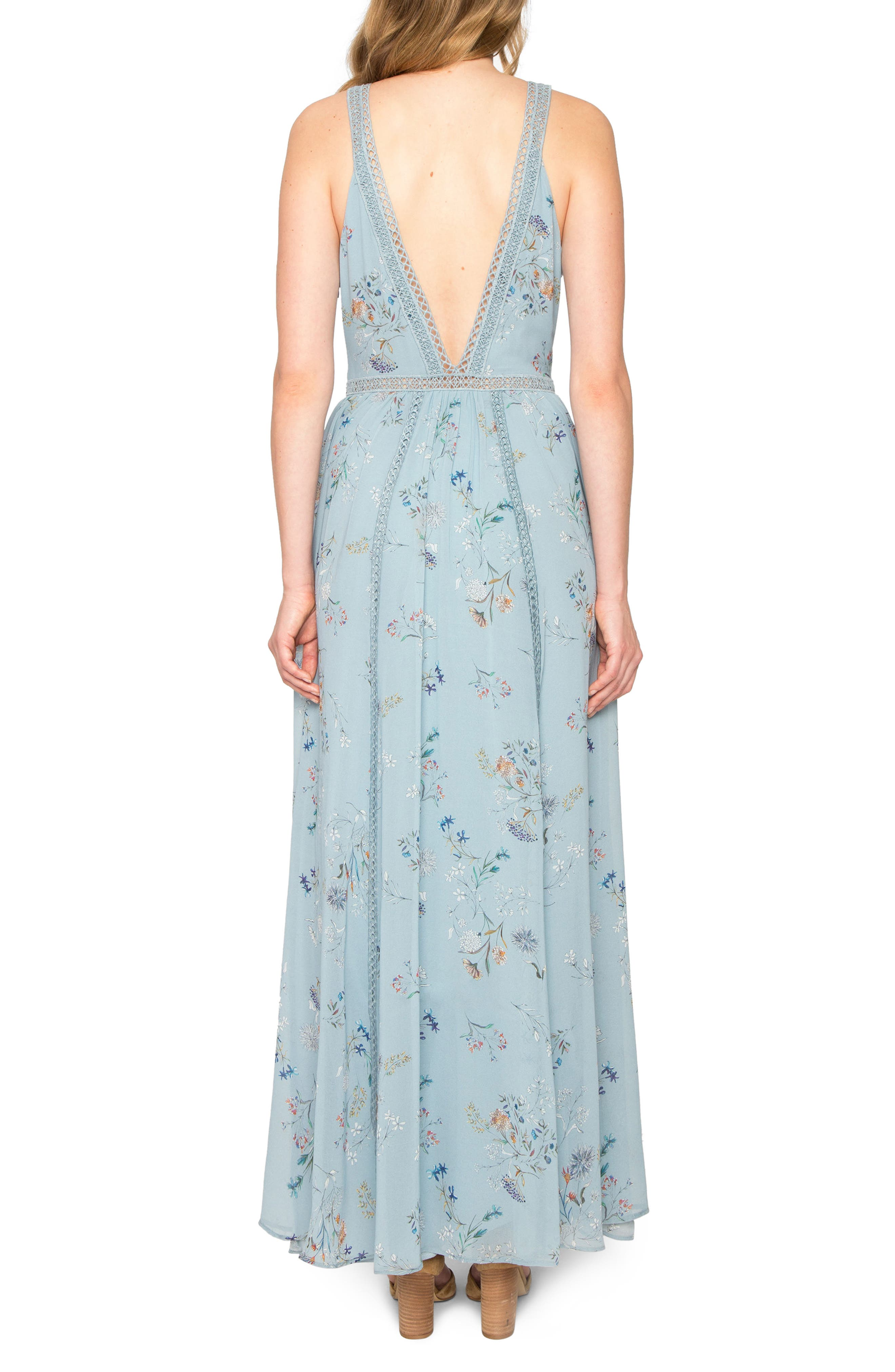 Alternate Image 2  - Willow & Clay Floral Print Maxi Dress